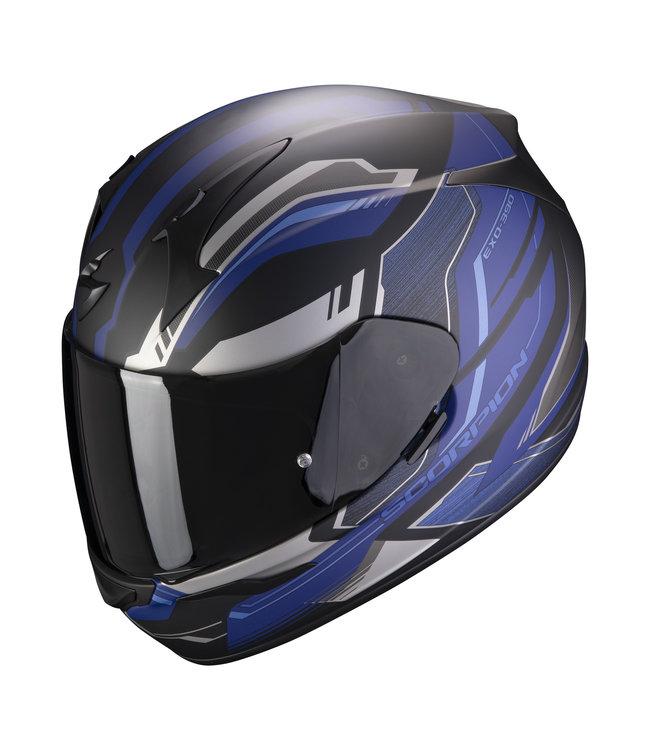 Scorpion EXO-390 BOOST MATT BLACK SILVER BLUE
