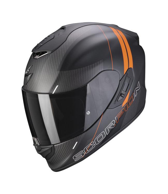 Scorpion EXO-1400 CARBON AIR DRIK MATT BLACK ORANGE