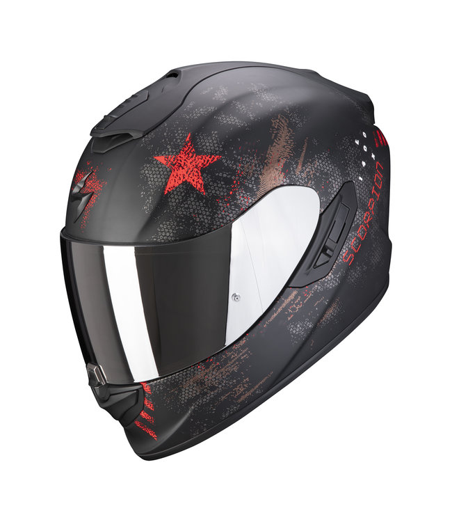 Scorpion EXO-1400 AIR ASIO MATT BLACK RED