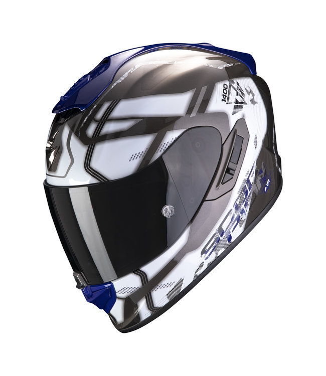 Scorpion EXO-1400 AIR SPATIUM WHITE BLUE