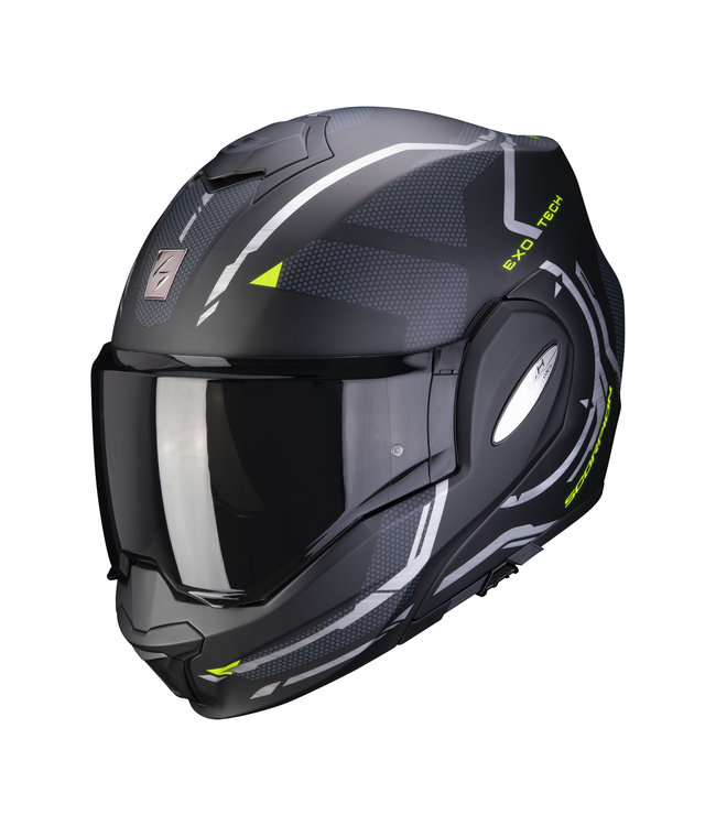 Scorpion EXO-TECH SQUARE MATT BLACK-NEON YELLOW