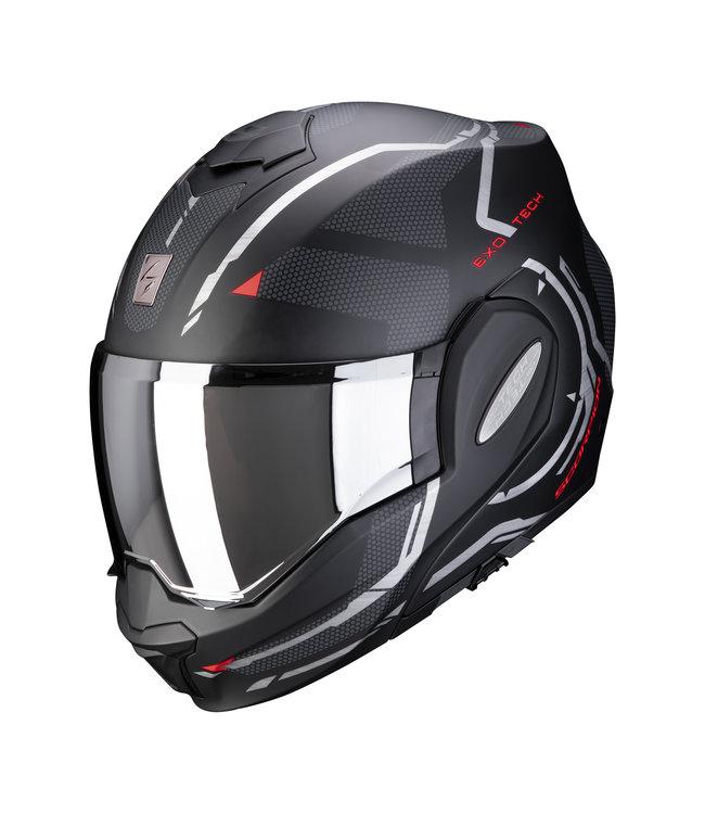 Scorpion EXO-TECH SQUARE MATT BLACK RED