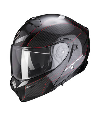 Scorpion EXO-930 CIELO PEARL BLACK-RED