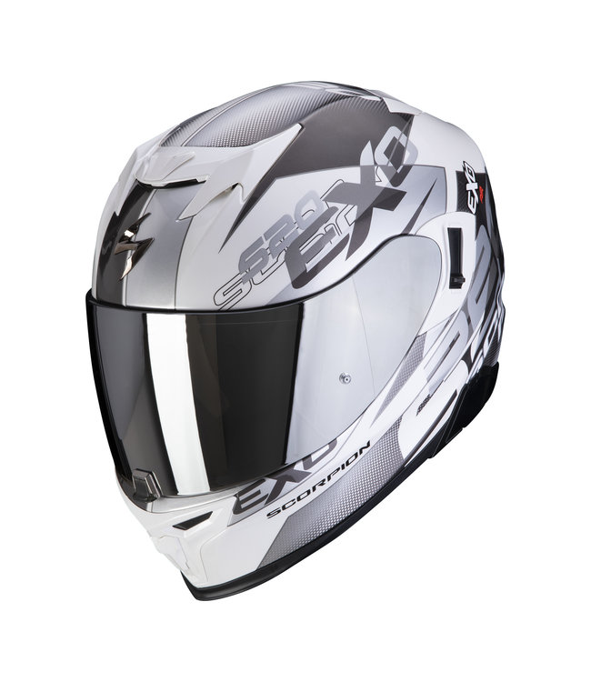 Scorpion EXO-520 AIR COVER WHITE SILVER
