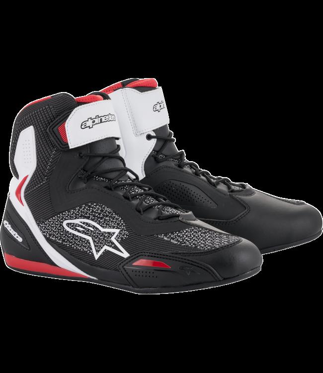 Alpinestars FASTER-3 RIDEKNIT SHOES BLACK WHITE RED