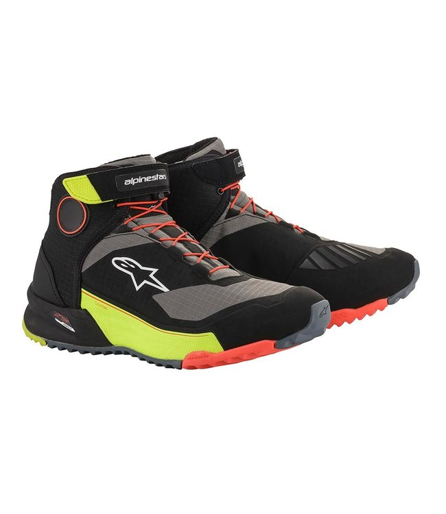 Alpinestars CR X DRYSTAR RIDING SHOES BLACK YELLOW FLUO RED FLUO