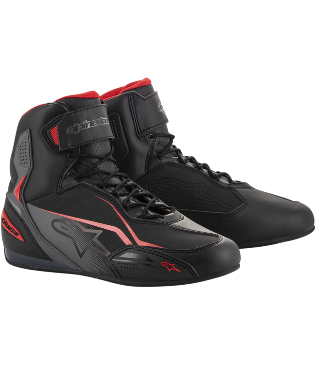 Alpinestars FASTER-3 SHOES BLACK GRAY RED