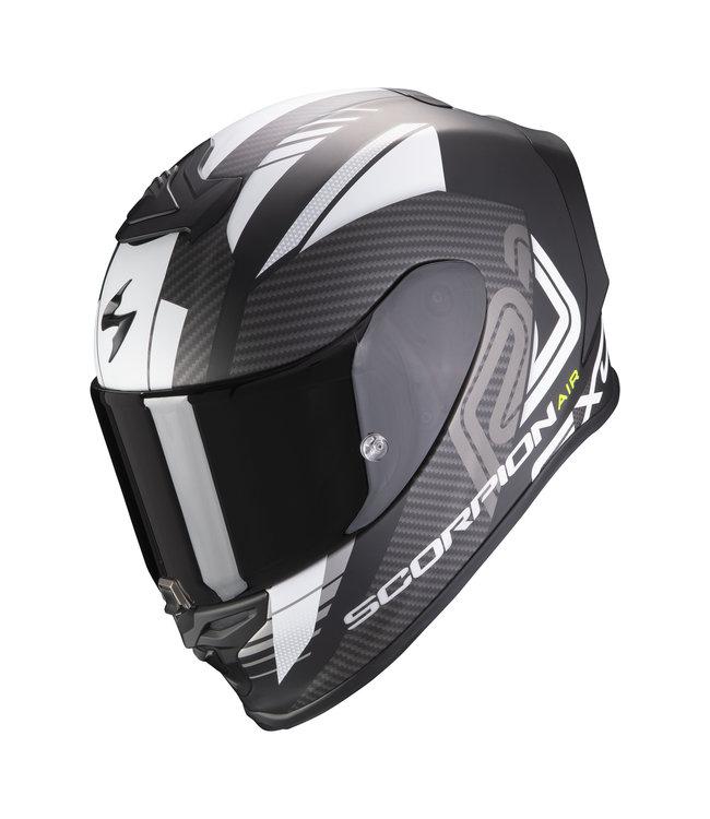Scorpion EXO-R1 AIR HALLEY MATT BLACK WHITE