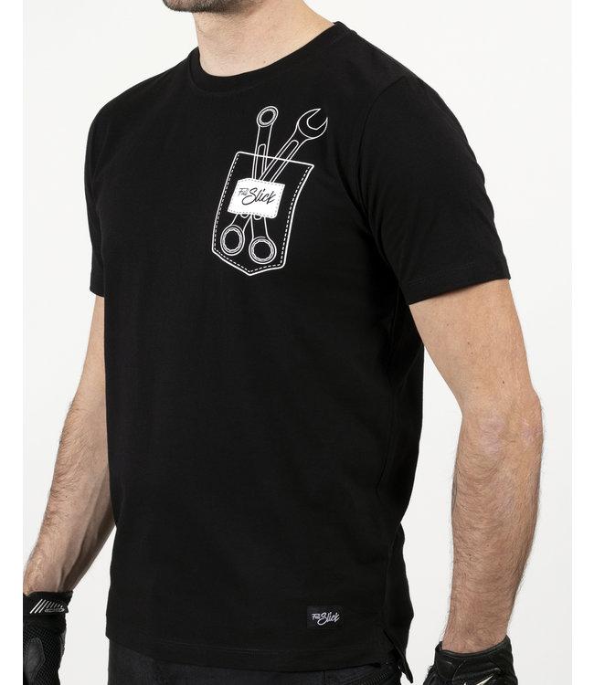 Full Slick Apparel DIY CHEST POCKET T-SHIRT BLACK