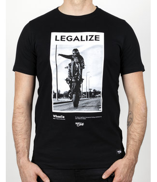 Full Slick Apparel LEGALIZE WHEELIES T-SHIRT BLACK
