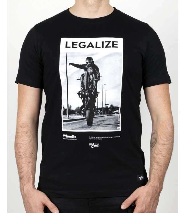Full Slick Apparel LEGALIZE WHEELIES T-SHIRT BLACK