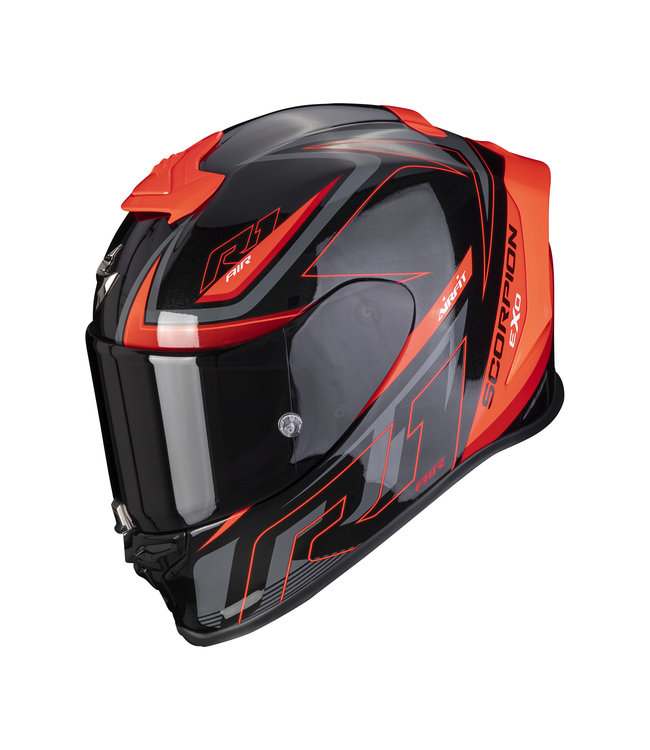 SCORPION EXO-R1 AIR GAZ BLACK METAL RED