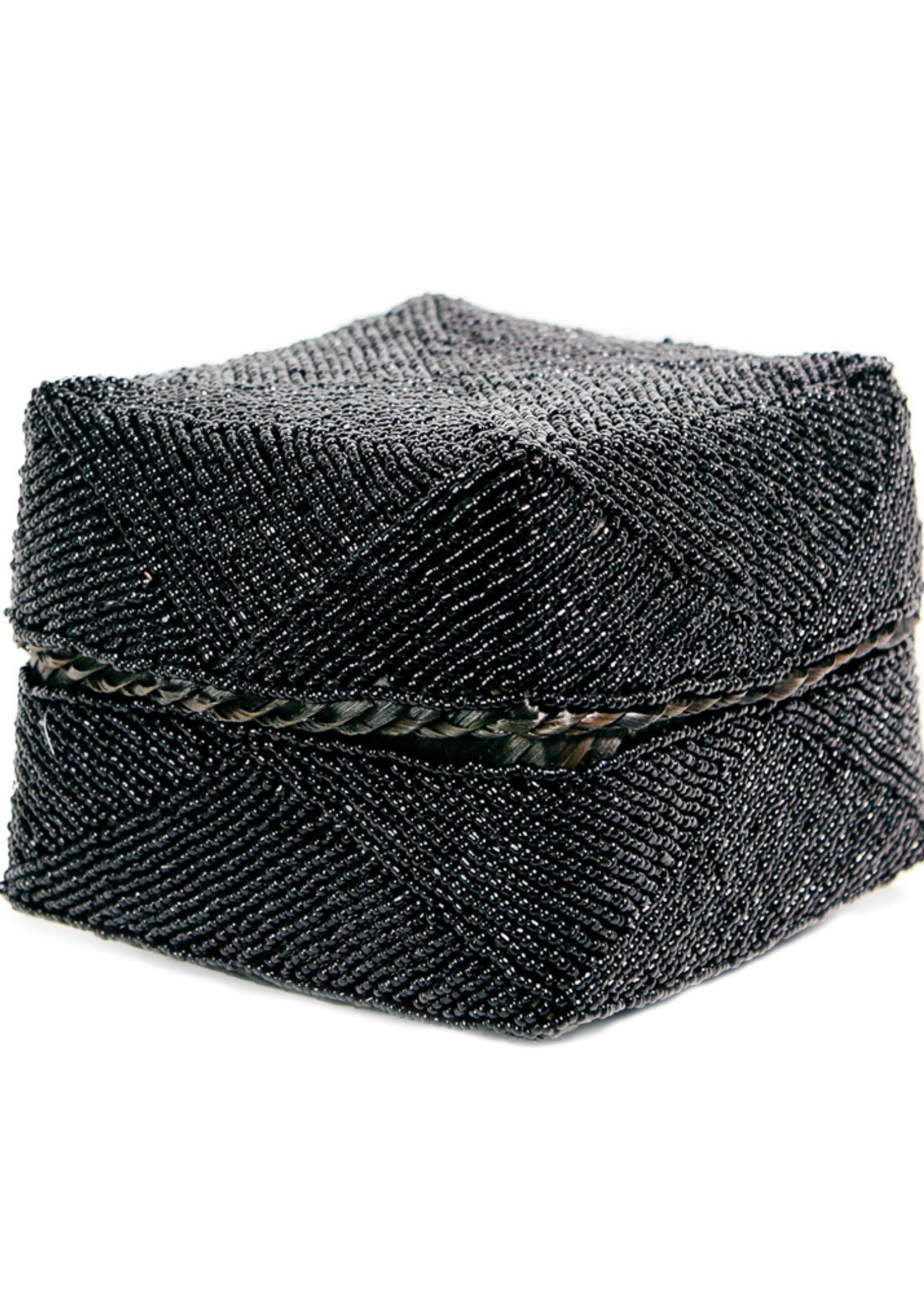 The Beaded Basket - Black - L