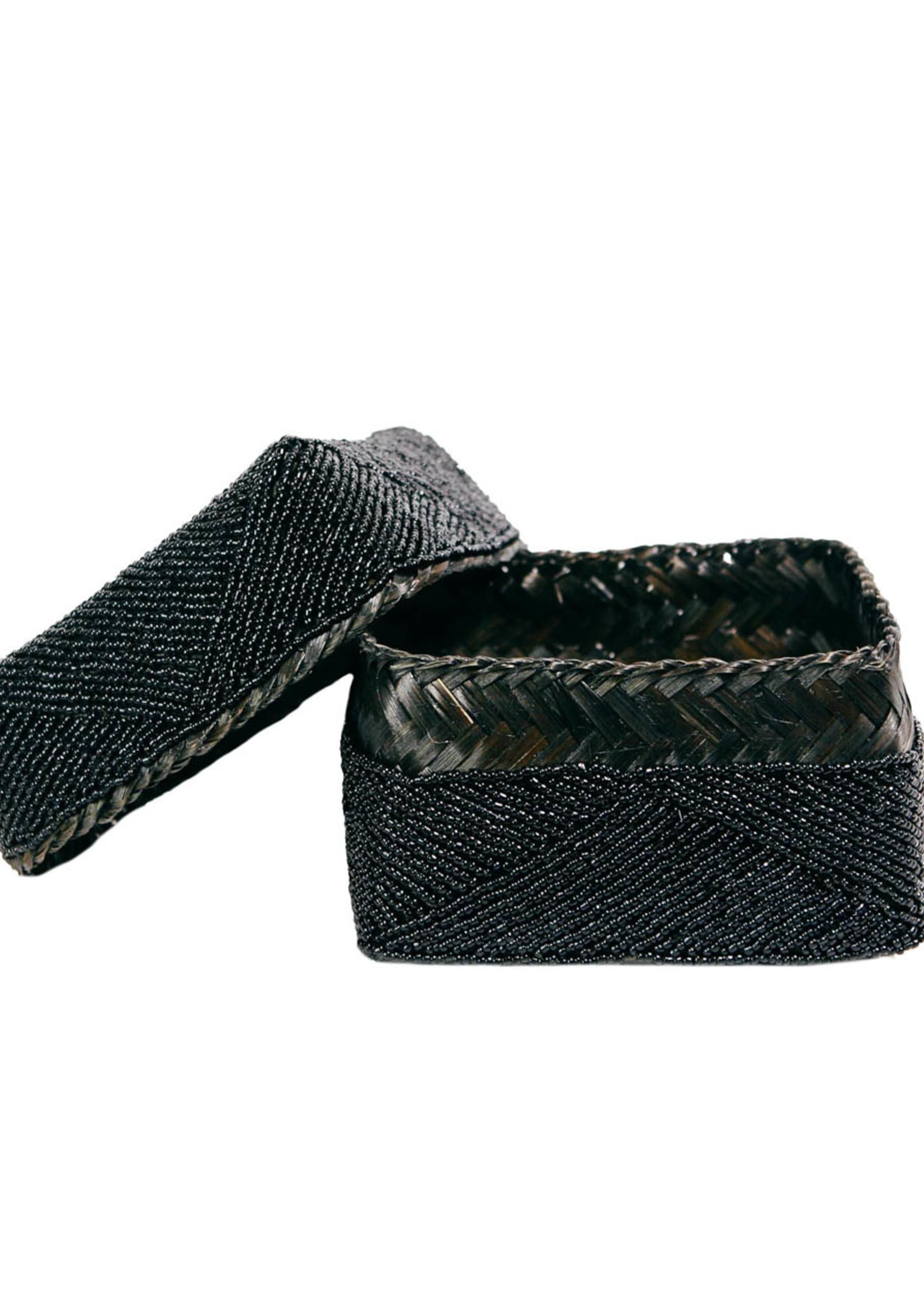 The Beaded Basket - Black - S
