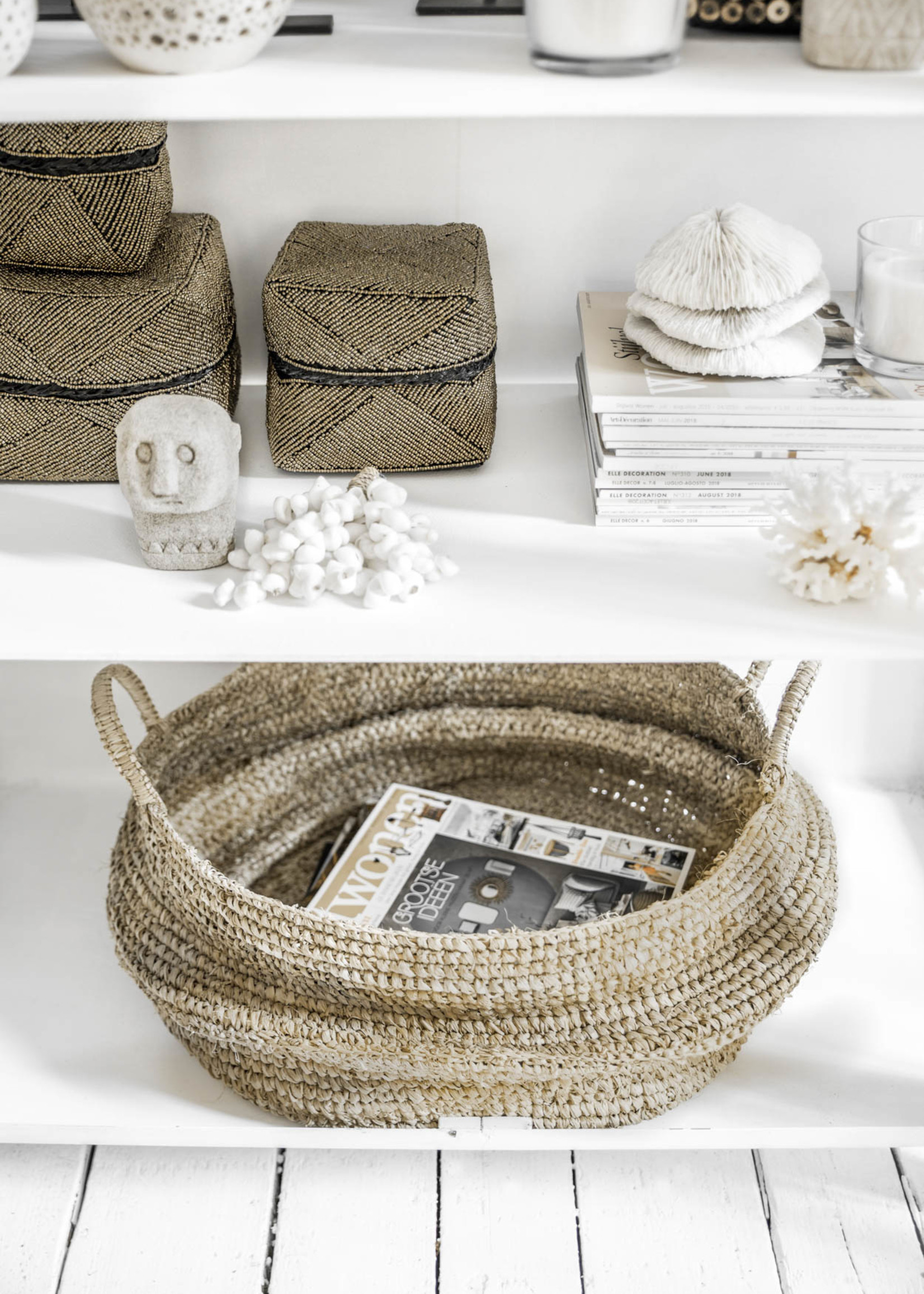 The Beaded Basket - Gold - L