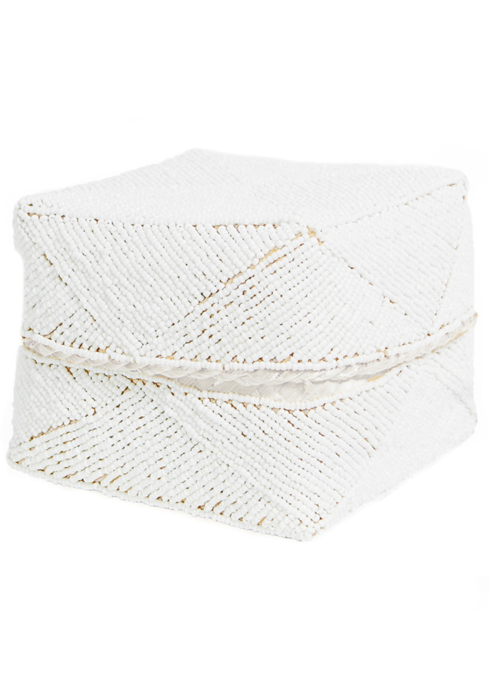 The Beaded Basket - White - L