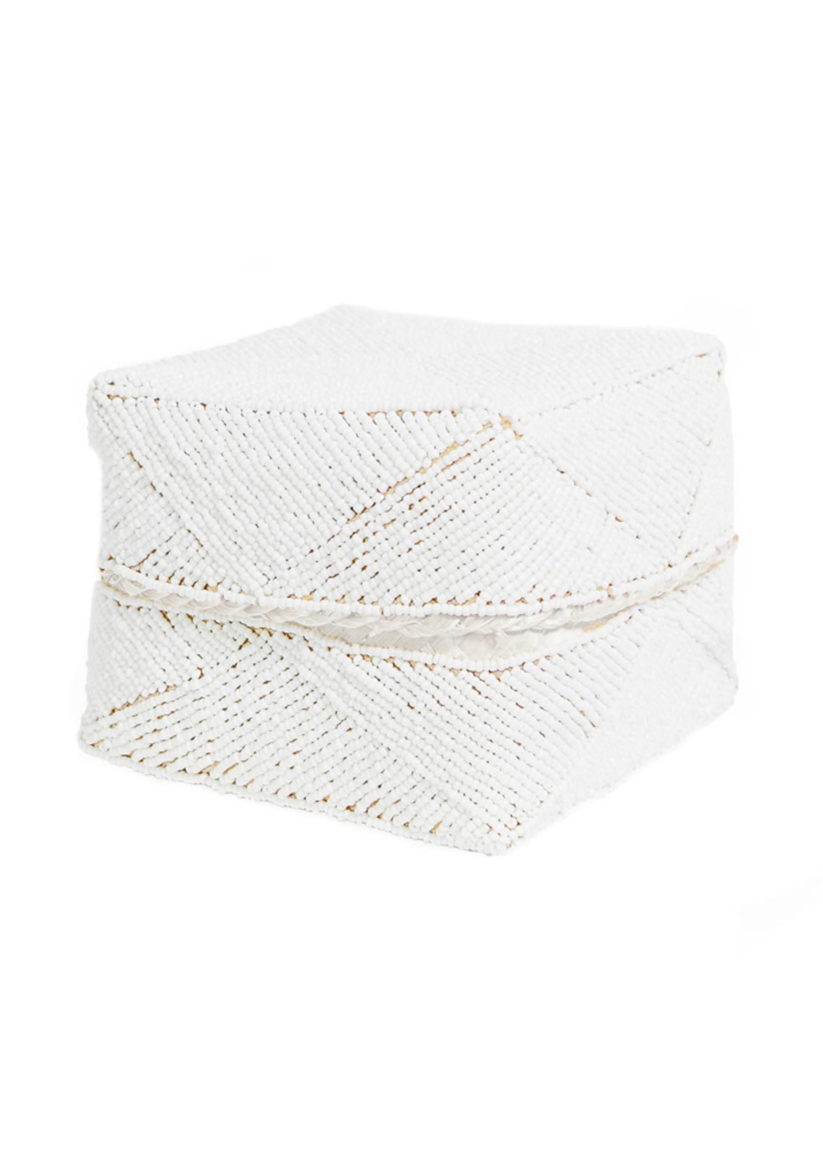 The Beaded Basket - White - M