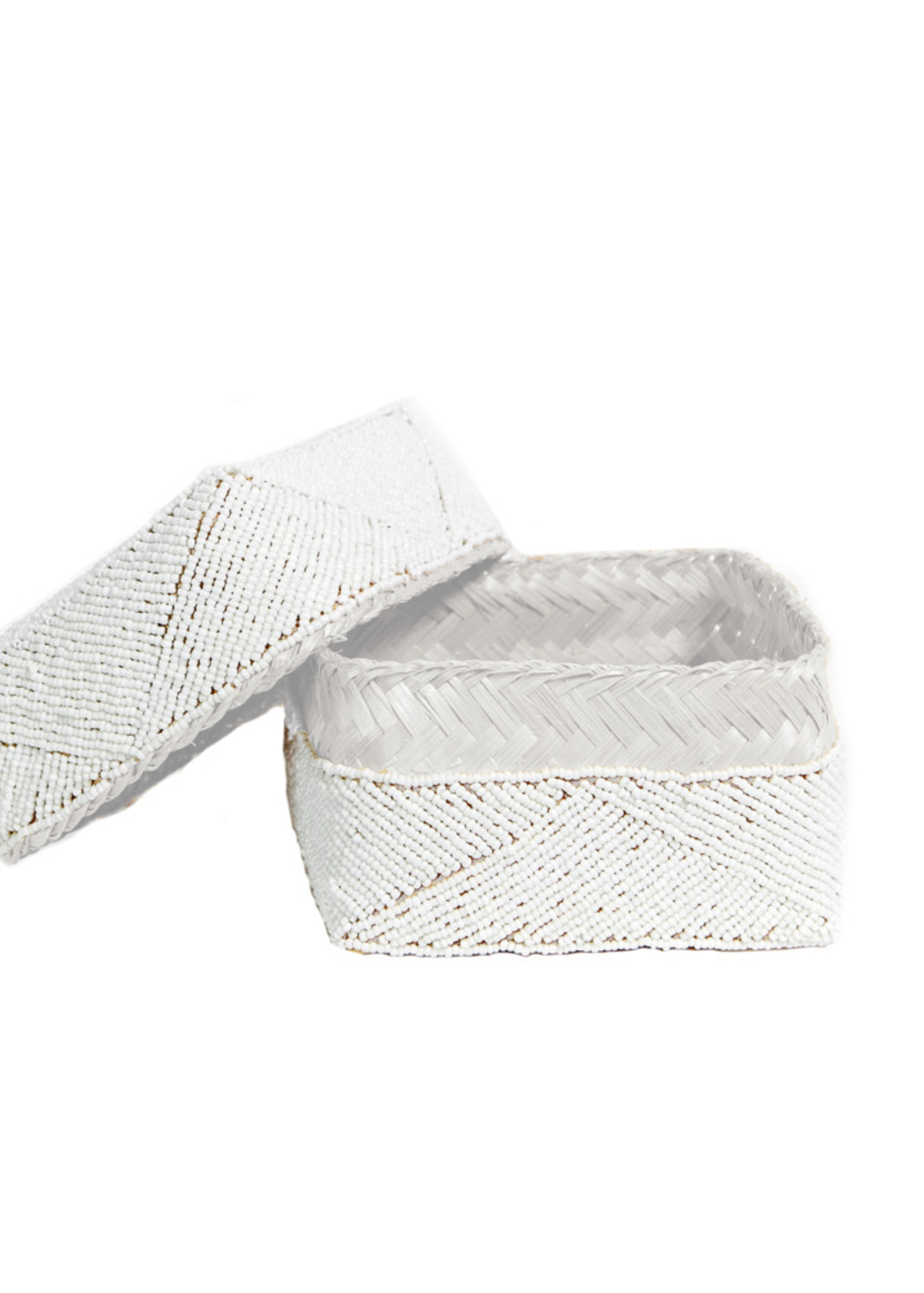 The Beaded Basket - White - S