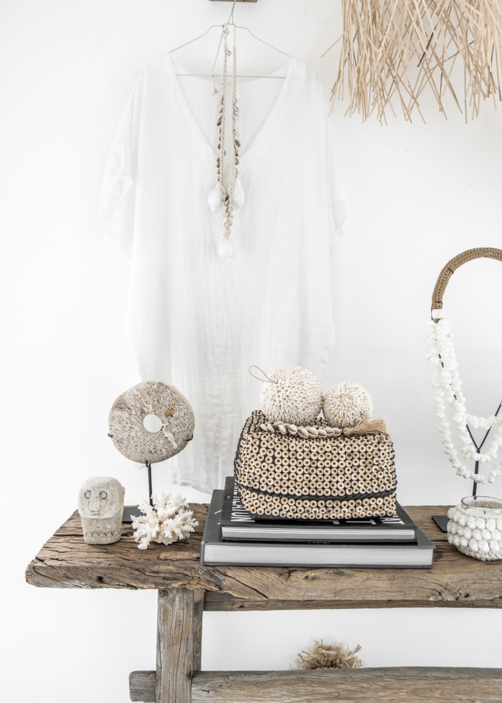 The Coconut Shell Square Basket - Natural - SET2