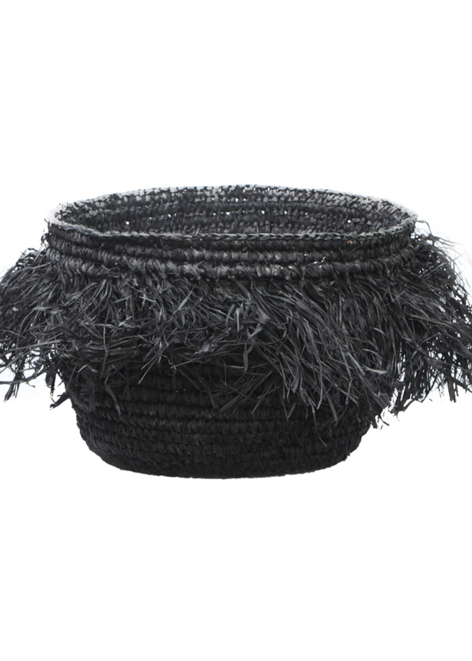 The Raffia Bowl - Black - M