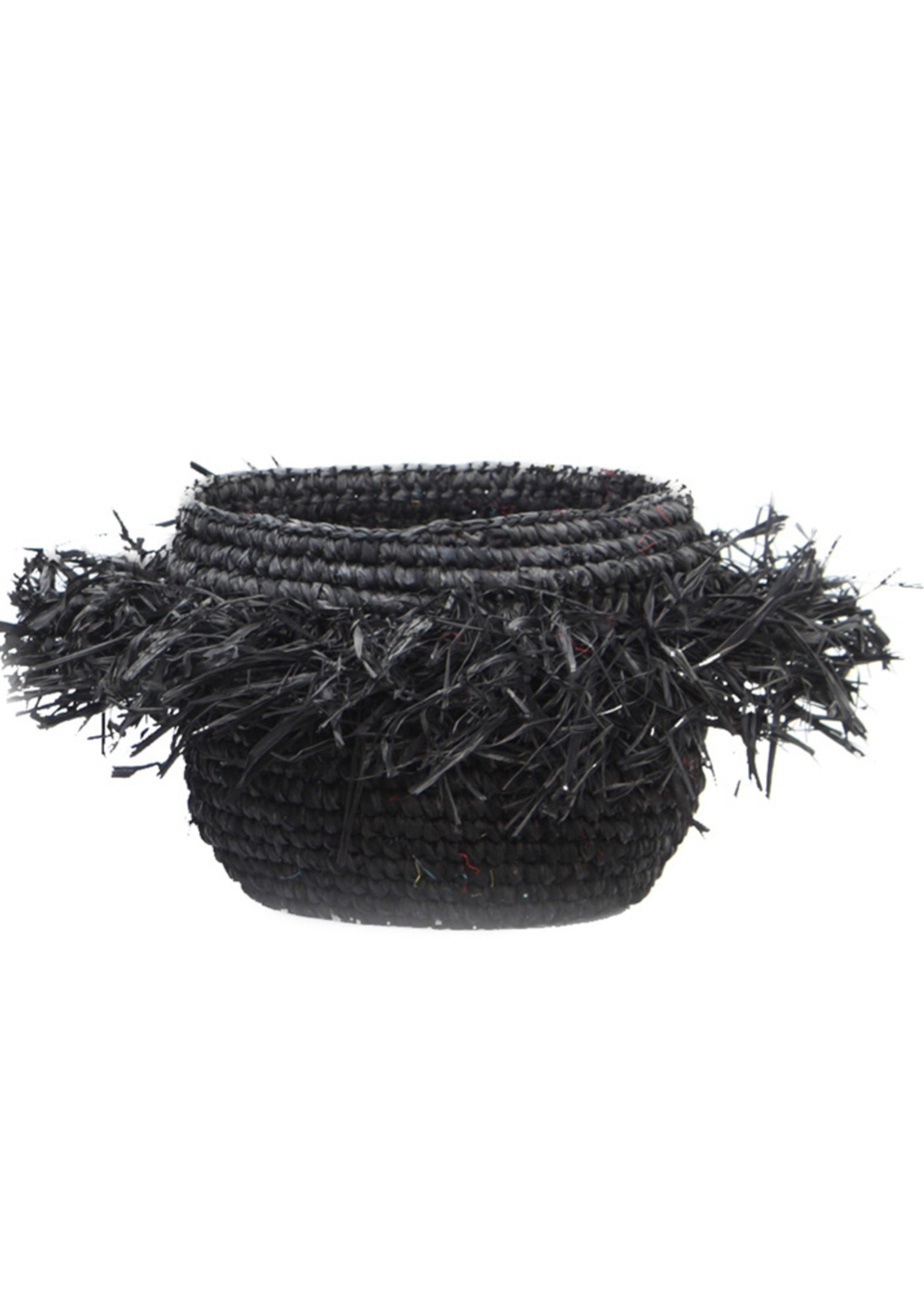 The Raffia Bowl - Black - S