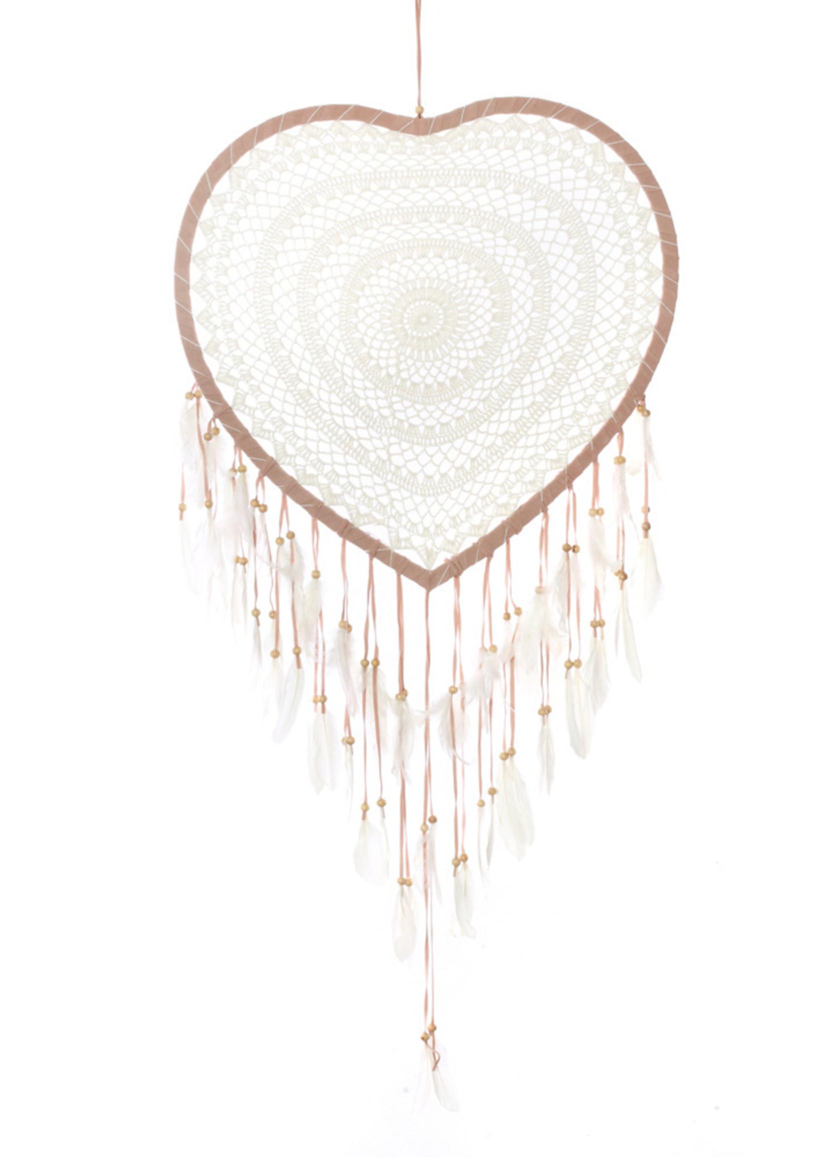 The Crochet Heart - Cream