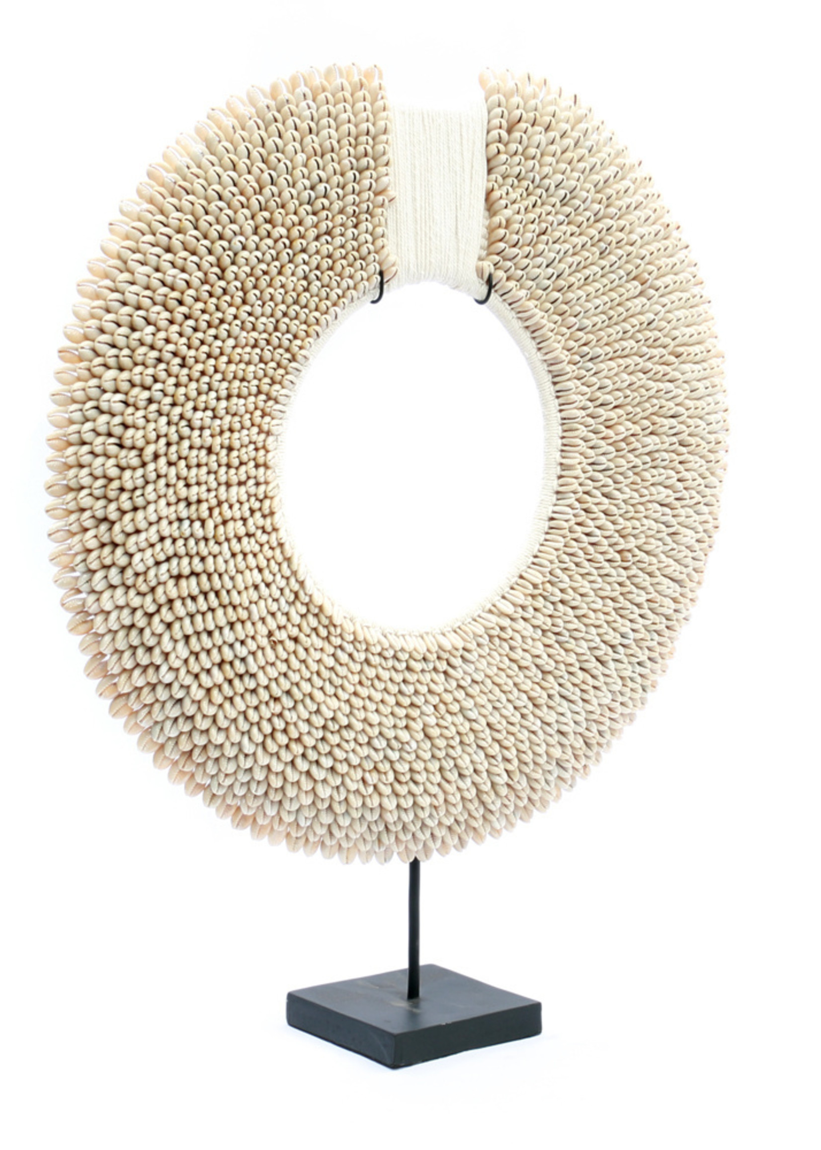 The Papua Shell Disc on Stand - White - L