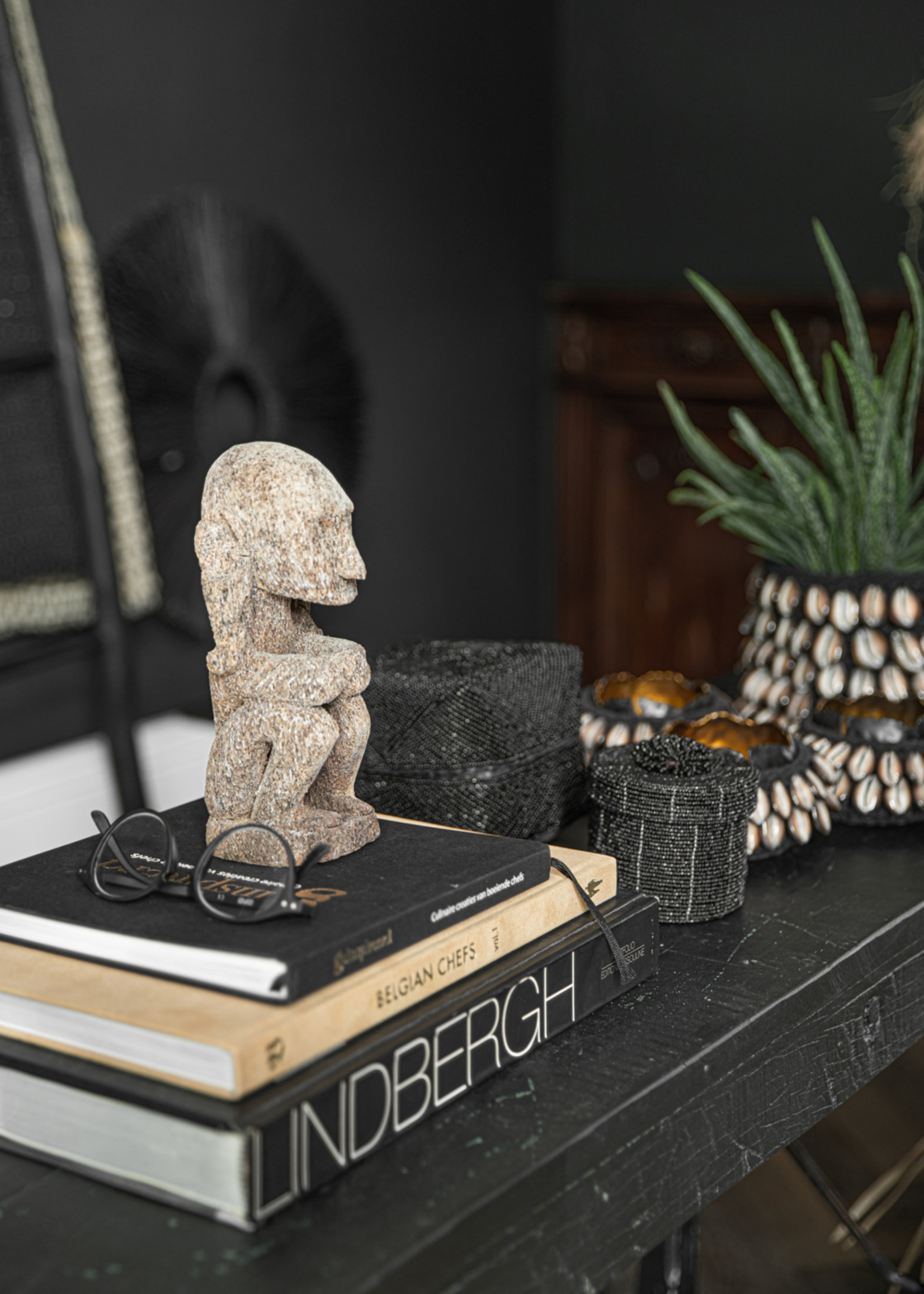 The Beaded Gift Box - Black