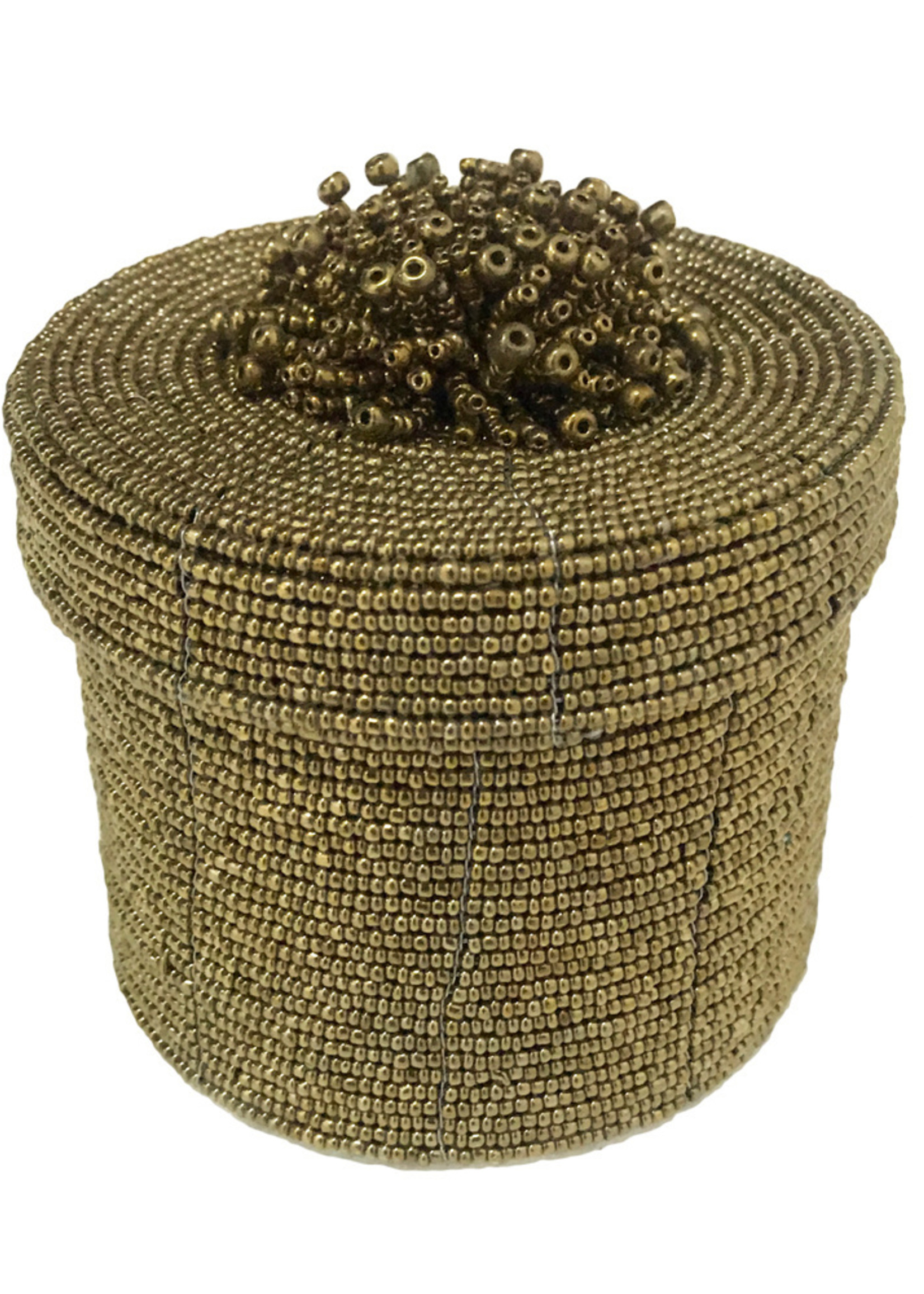 The Beaded Gift Box - Gold