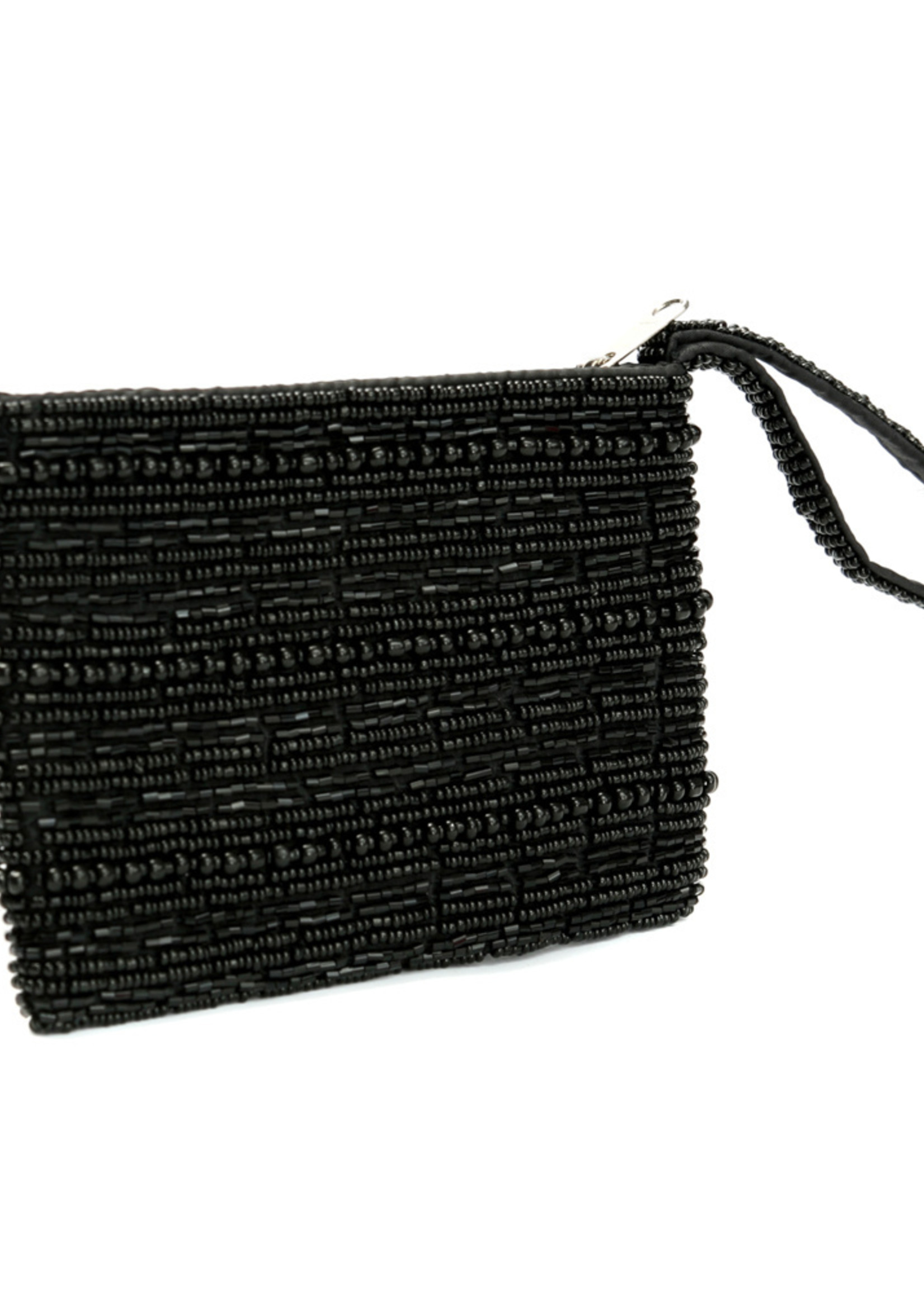 The Black Beaded Wallet