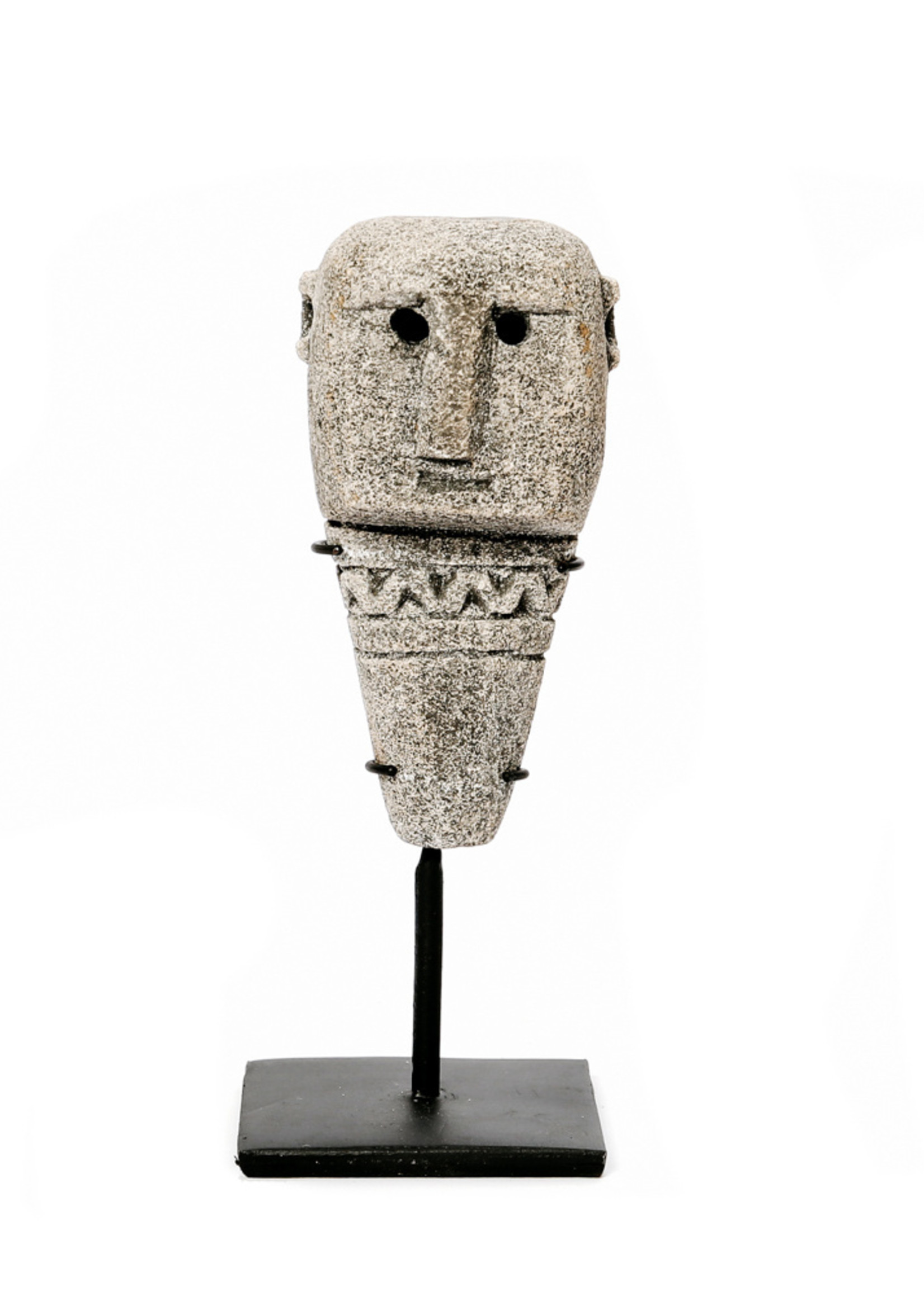 The Sumba Stone Statue #10 on Stand - Grey