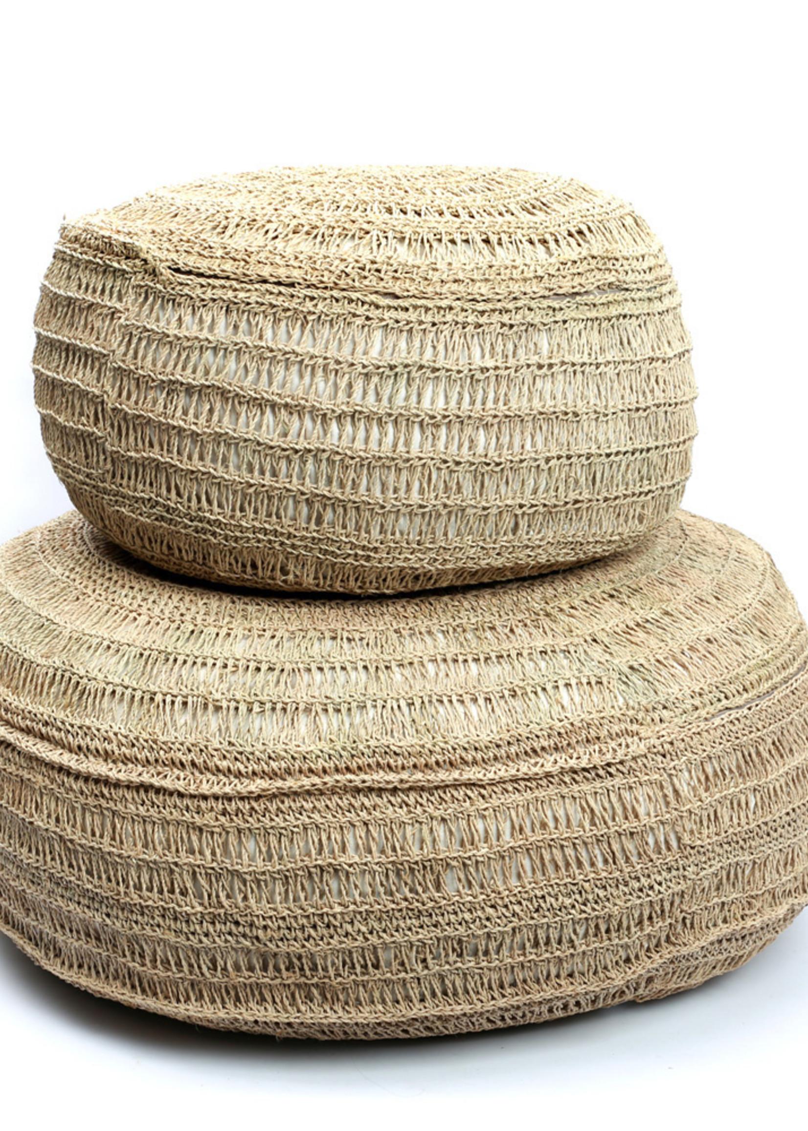 The Seagrass Pouffe - Natural - L