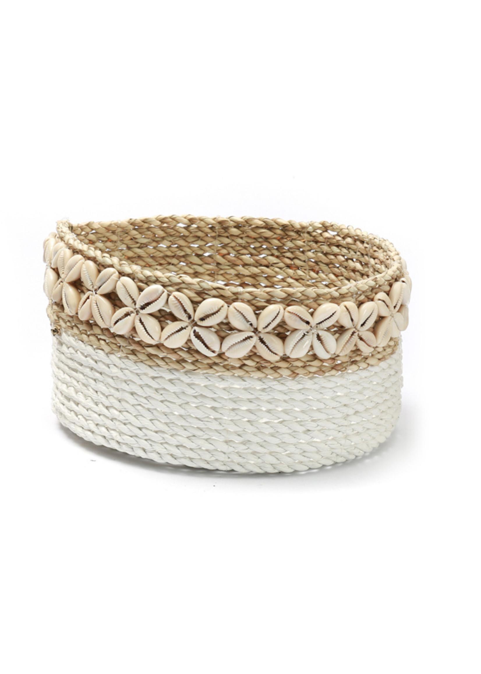 The White Sunday Baskets - White Natural - M