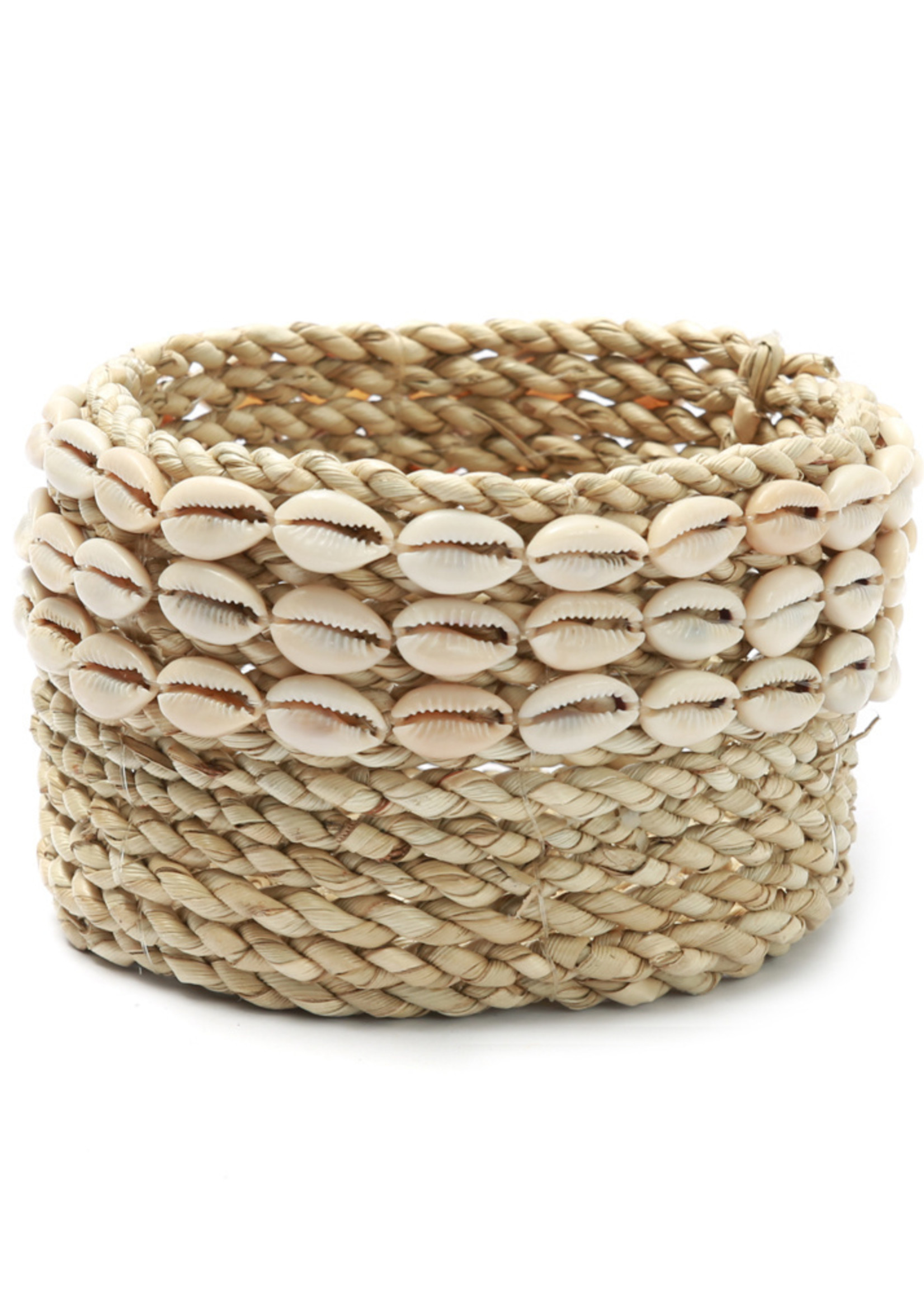 The Weaved Cowrie Basket #2 - Natural