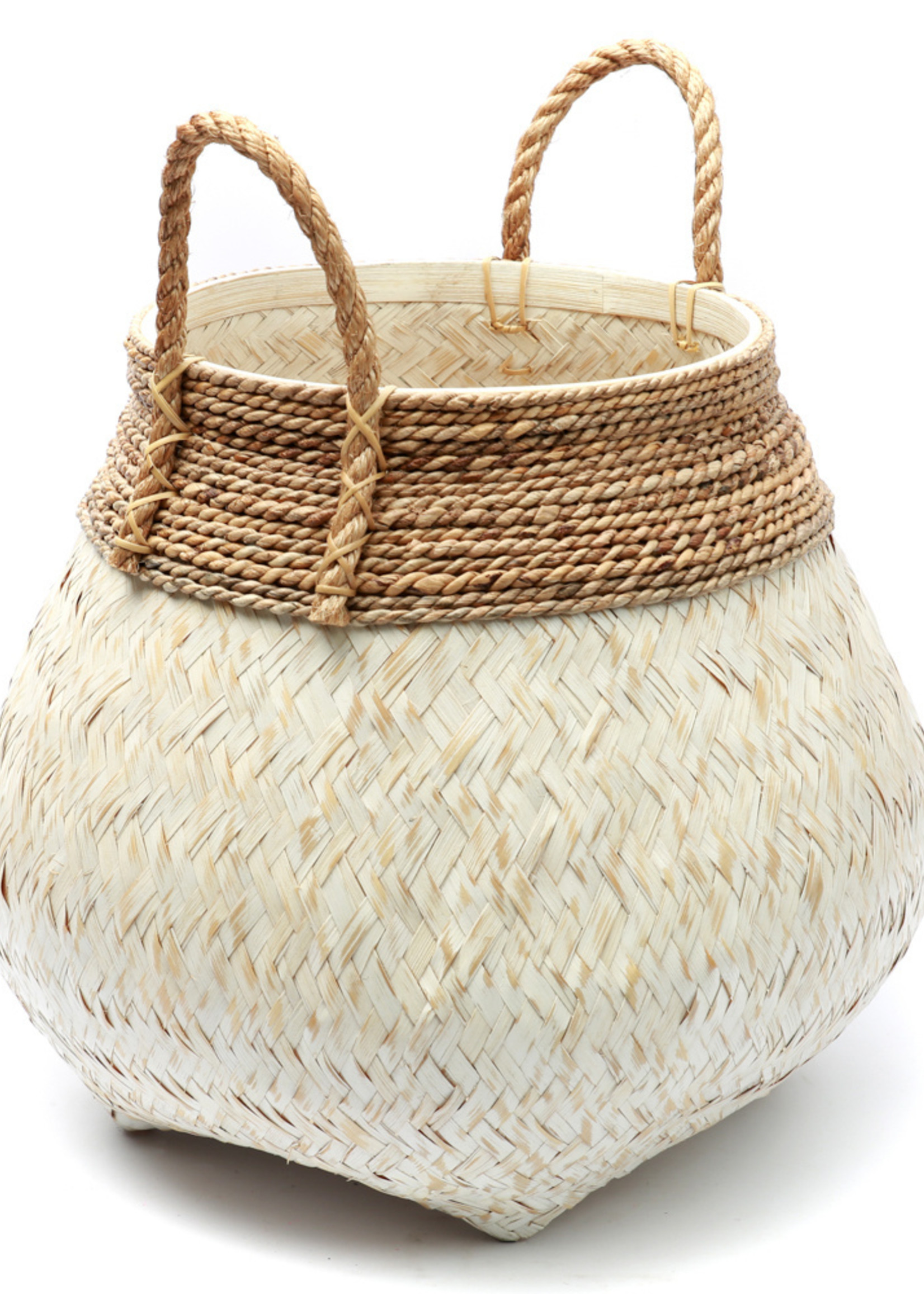 The Belly Basket - Natural White - L