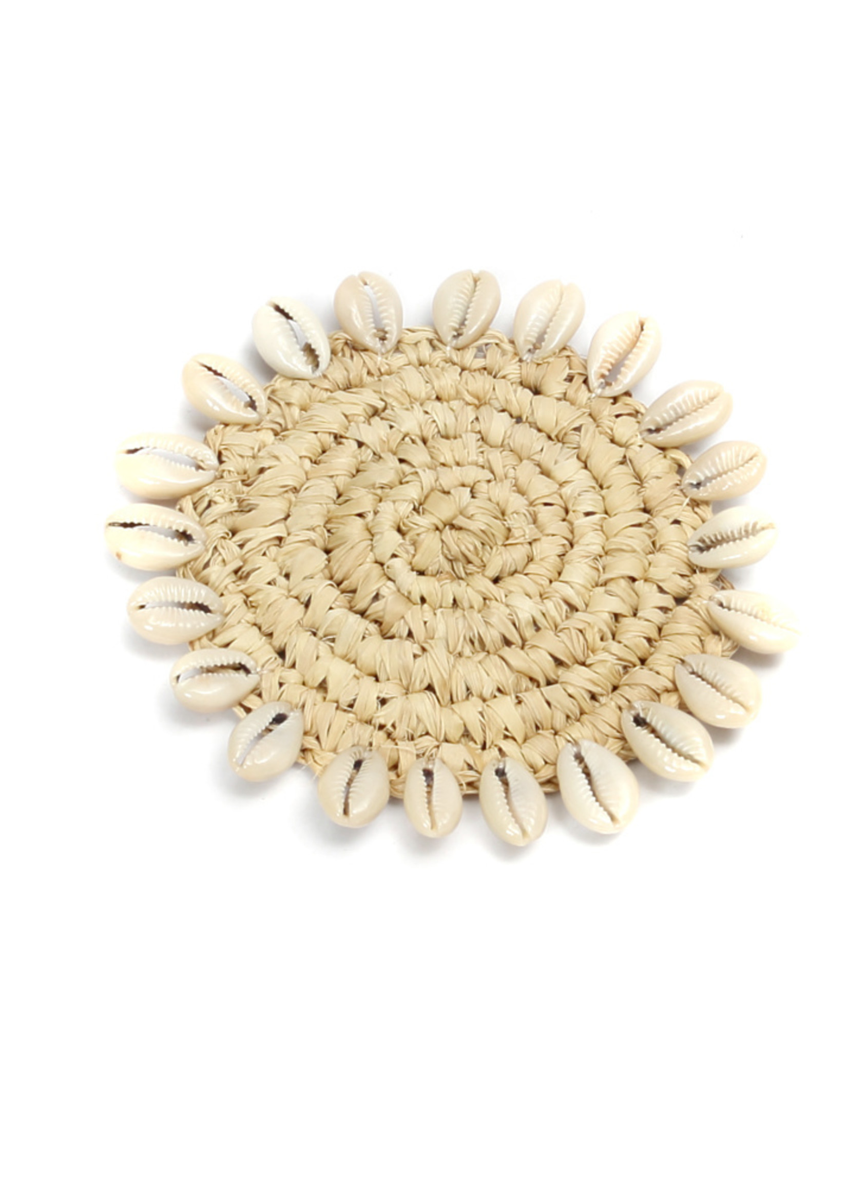 The Raffia Shell Coaster - Natural