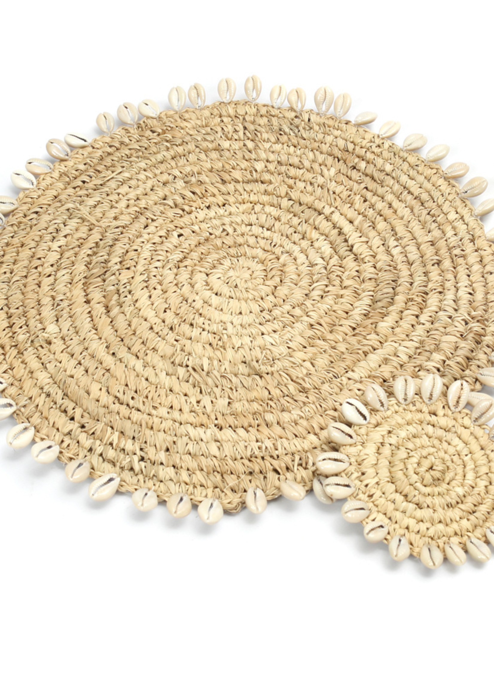 The Raffia Shell Placemat - Natural