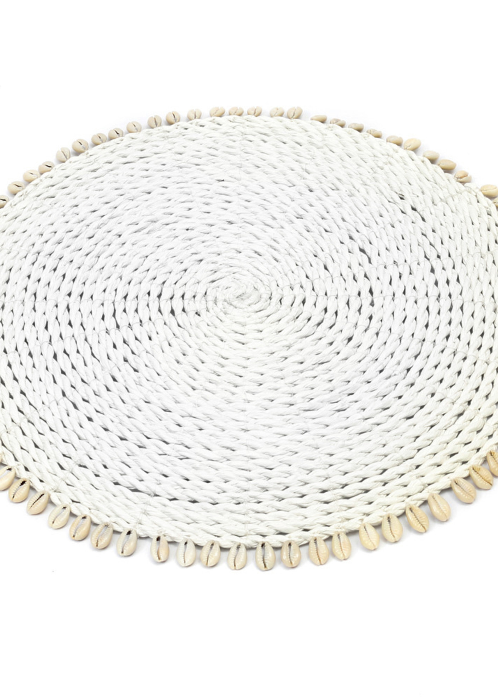 The Seagrass Shell Placemat - White