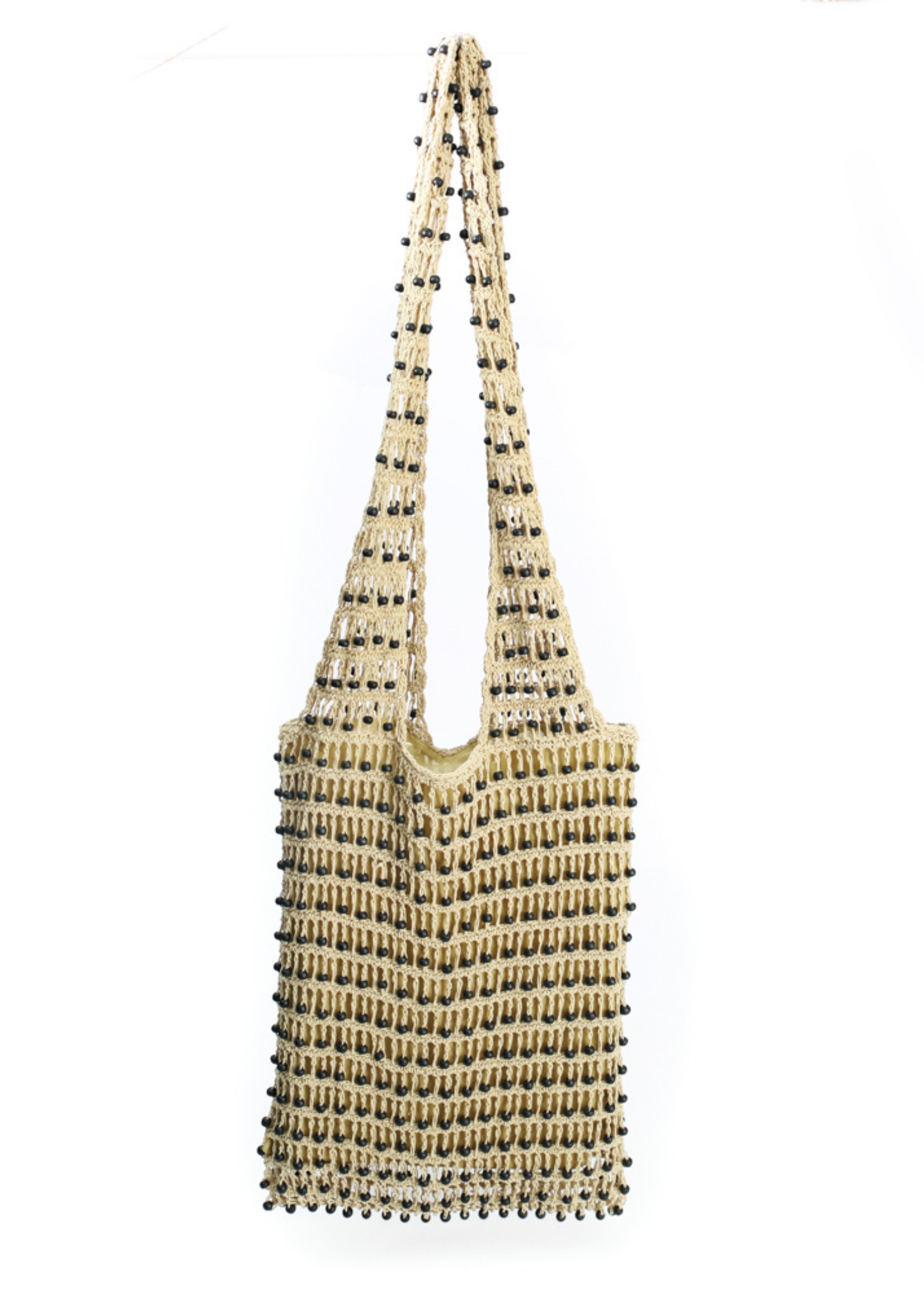 The Day in Day out Tote - Cream Black