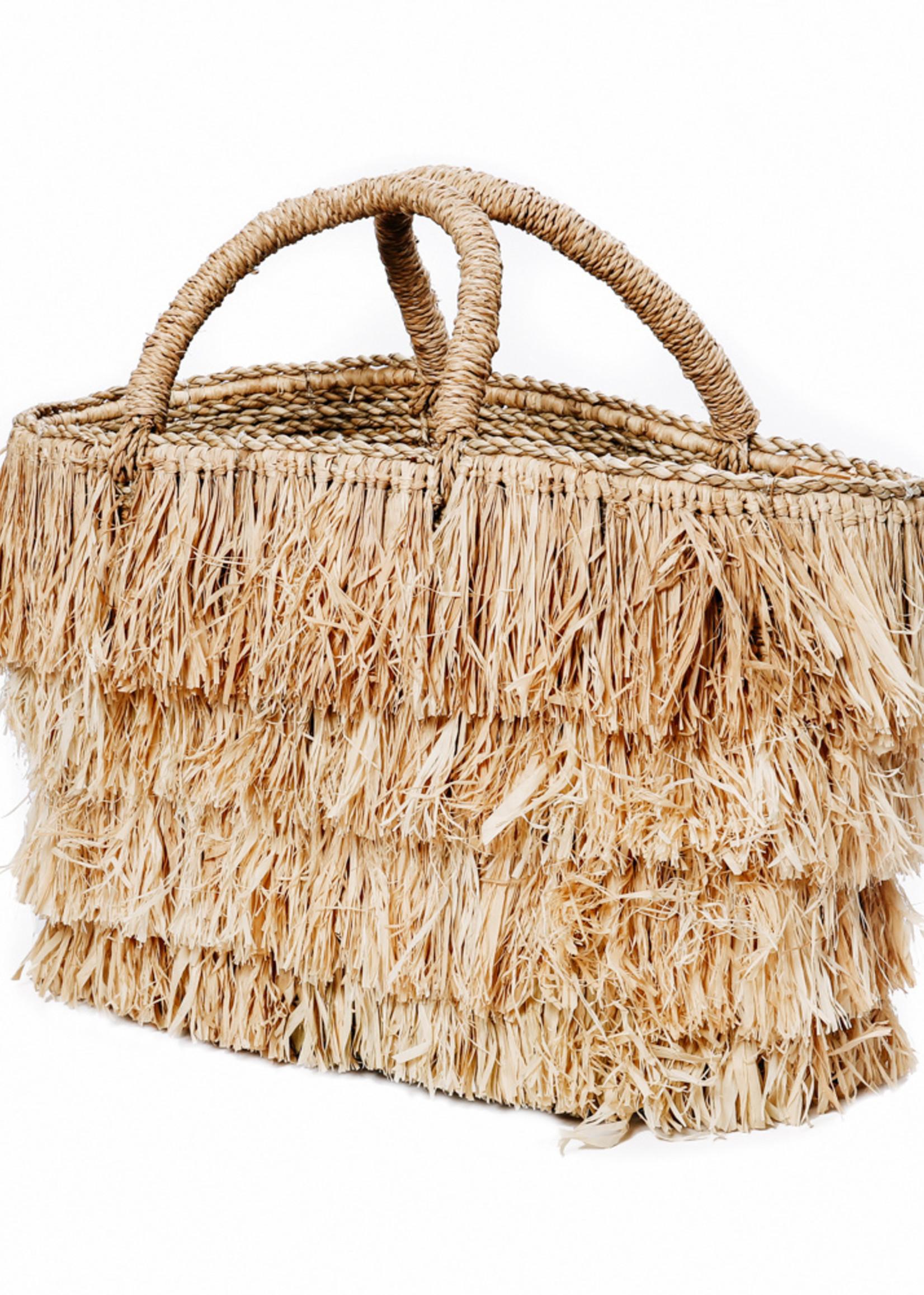 The Raffia Bahamas Basket - Natural