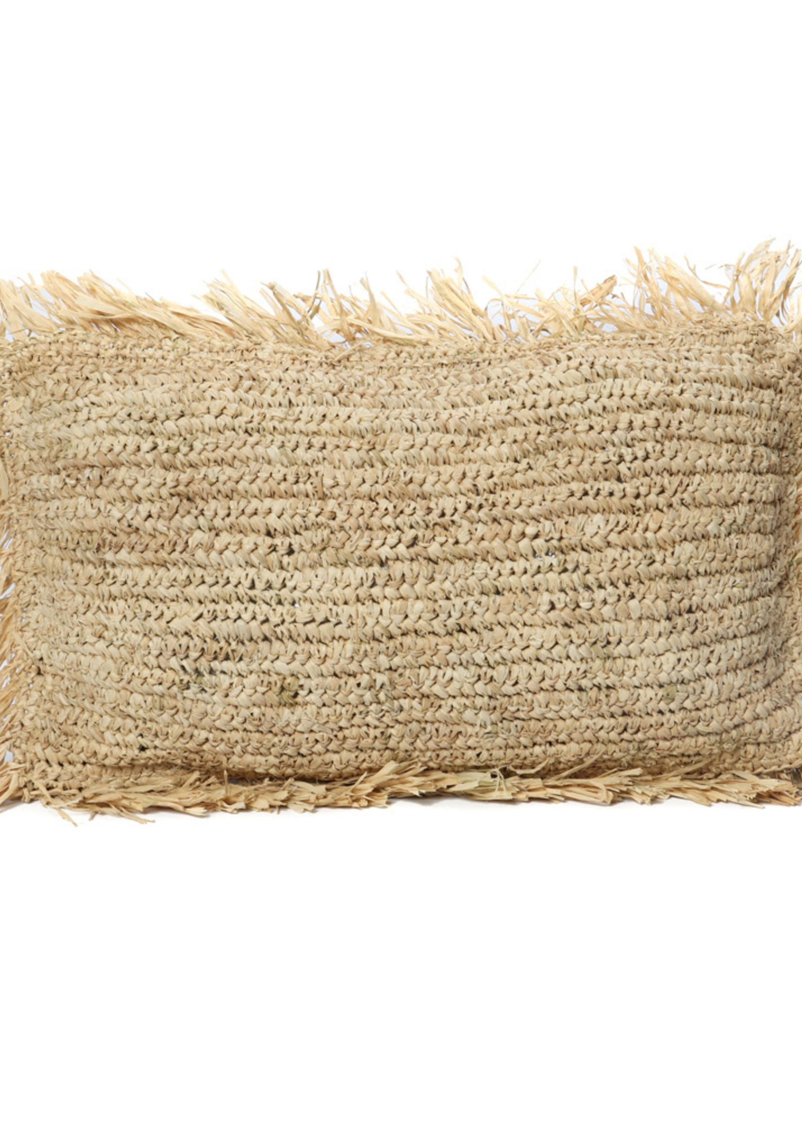 The Raffia Cushion Rectangular - Natural