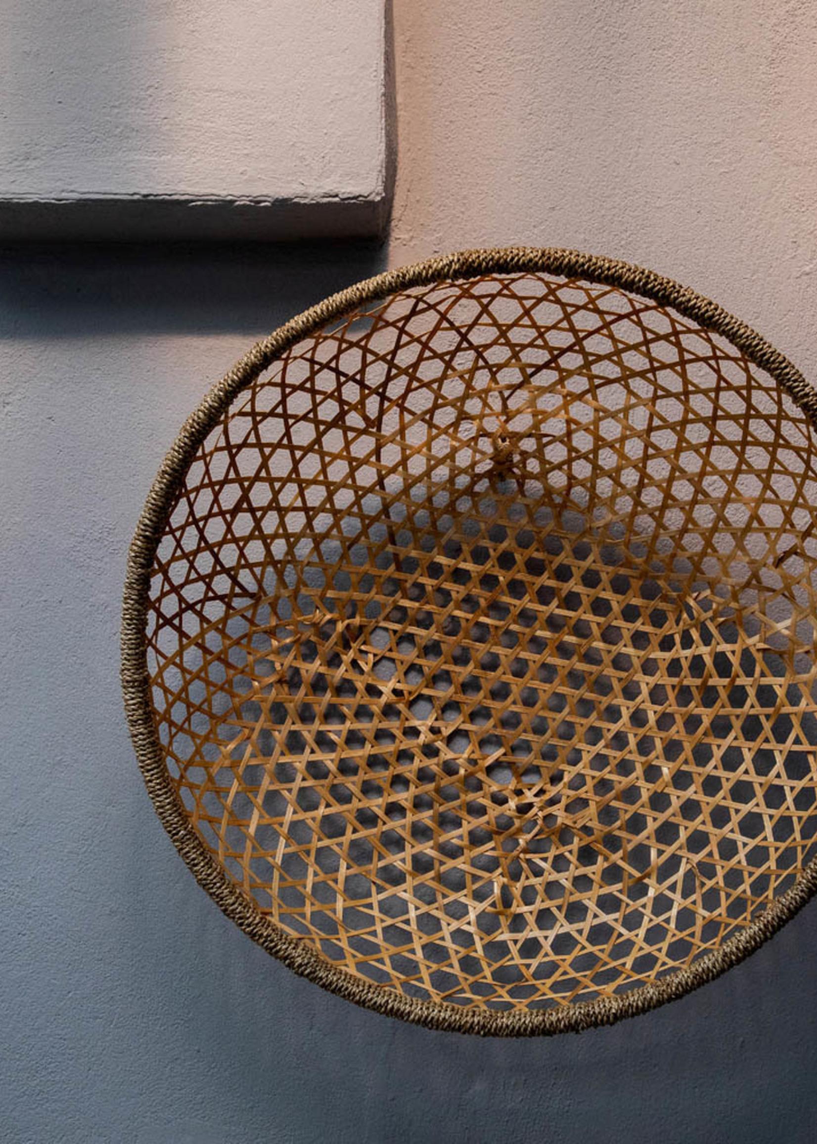 The Bamboo Wall Basket - Natural