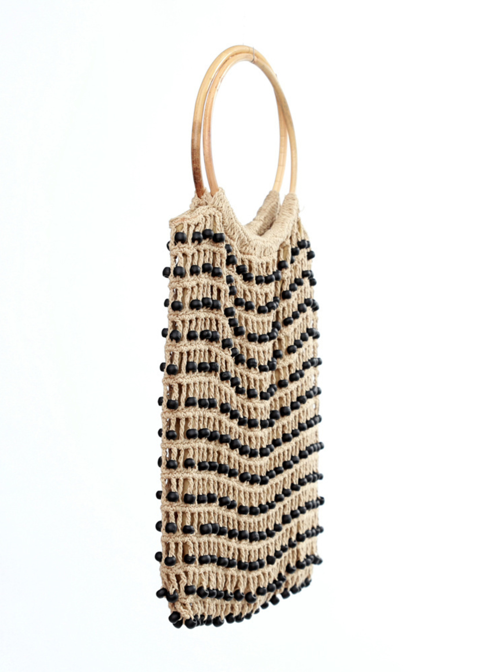 The Night in Night out Tote - Cream Black