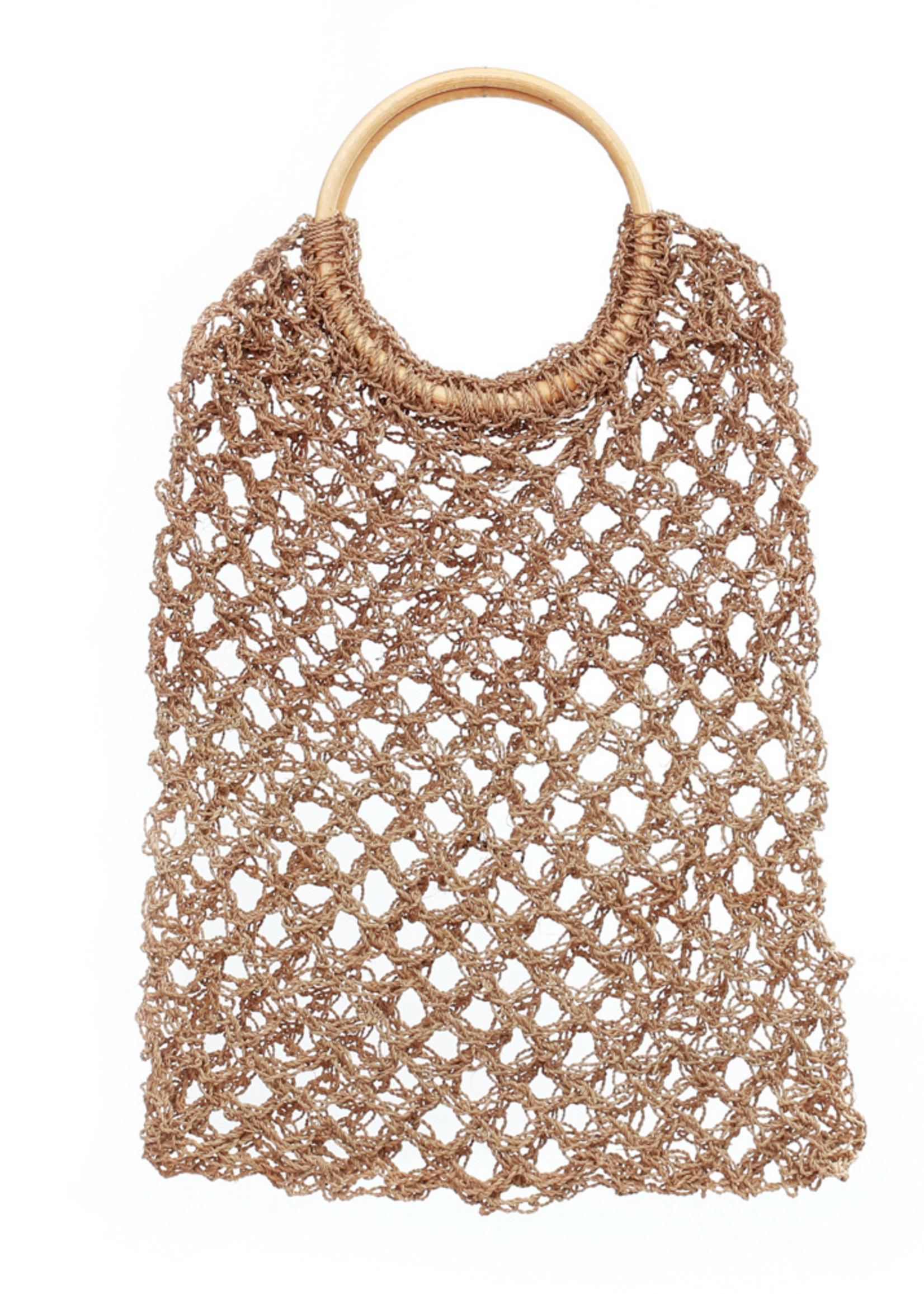 The Seagrass Crochet Shopper - Natural