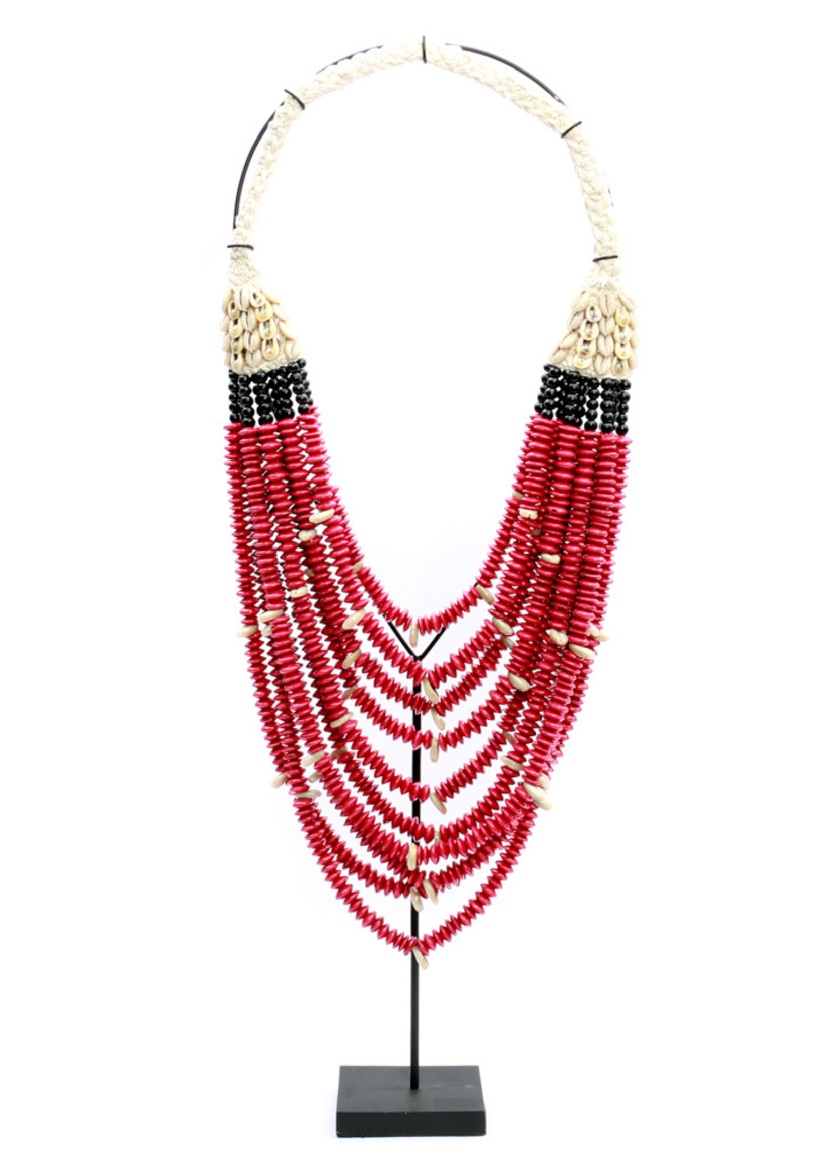 The Red out of Africa Necklace On Stand