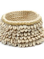 The Gold & Cowrie Macrame Planter