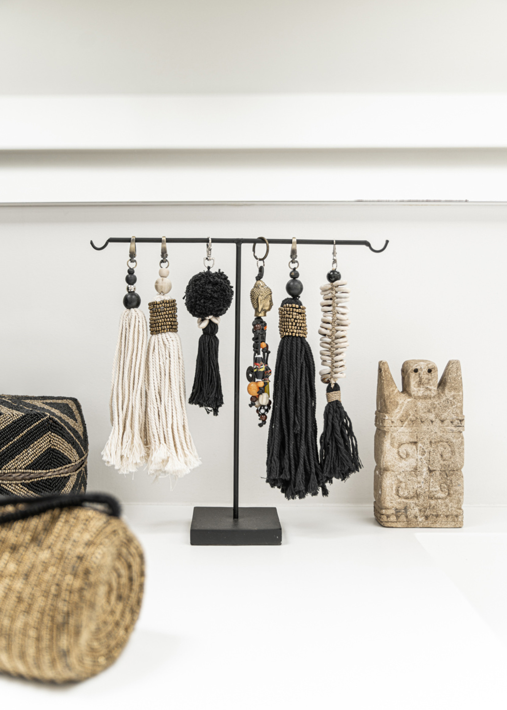 The Cotton Wood Keychain - Natural Black