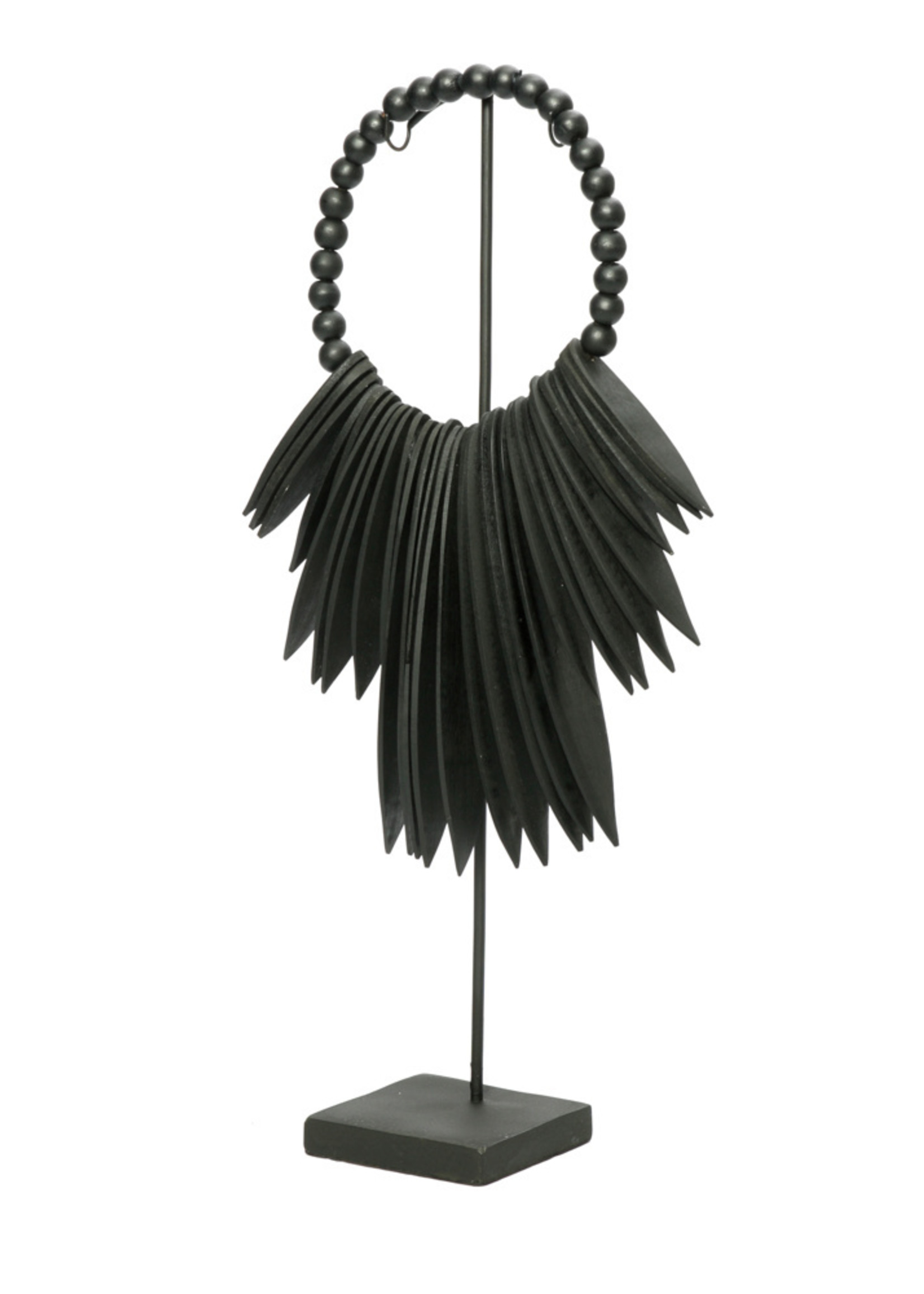 The Wooden Cuttlefish on Stand - Black - S