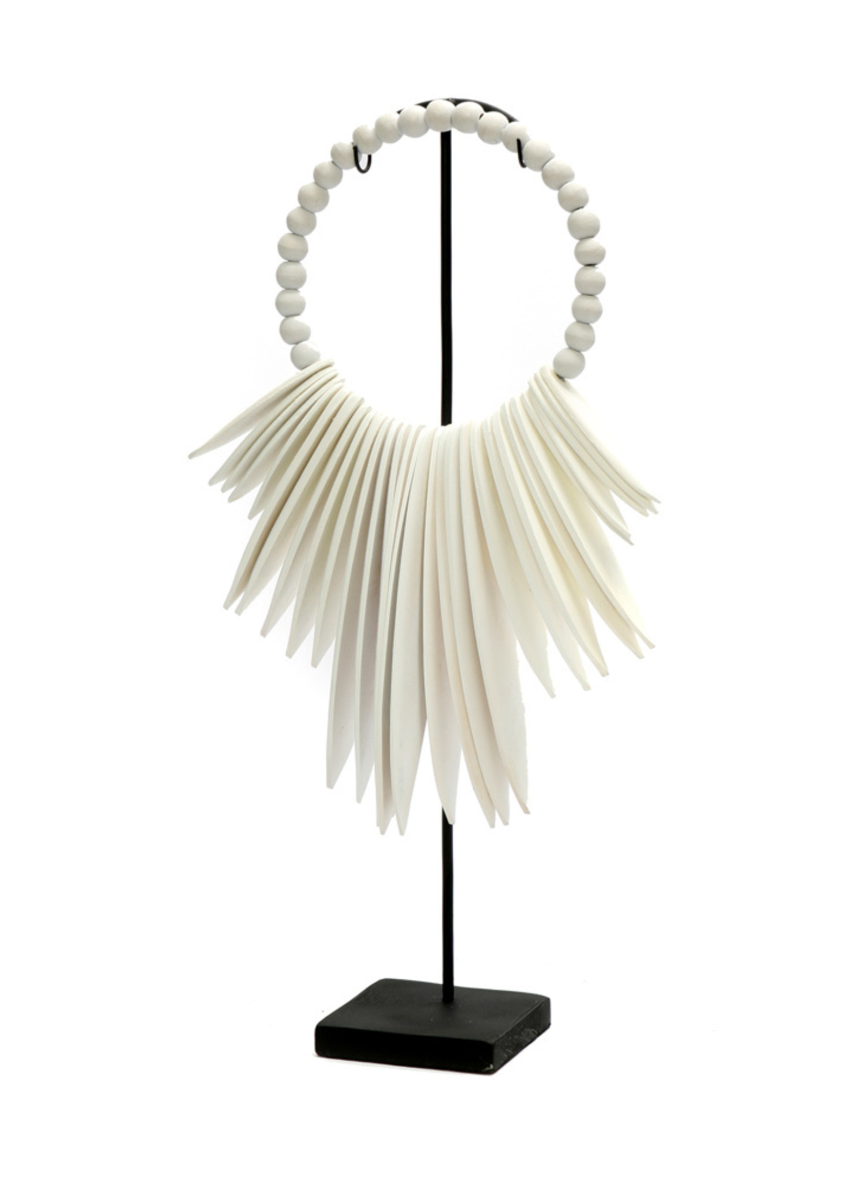 The Wooden Cuttlefish on Stand - White - S