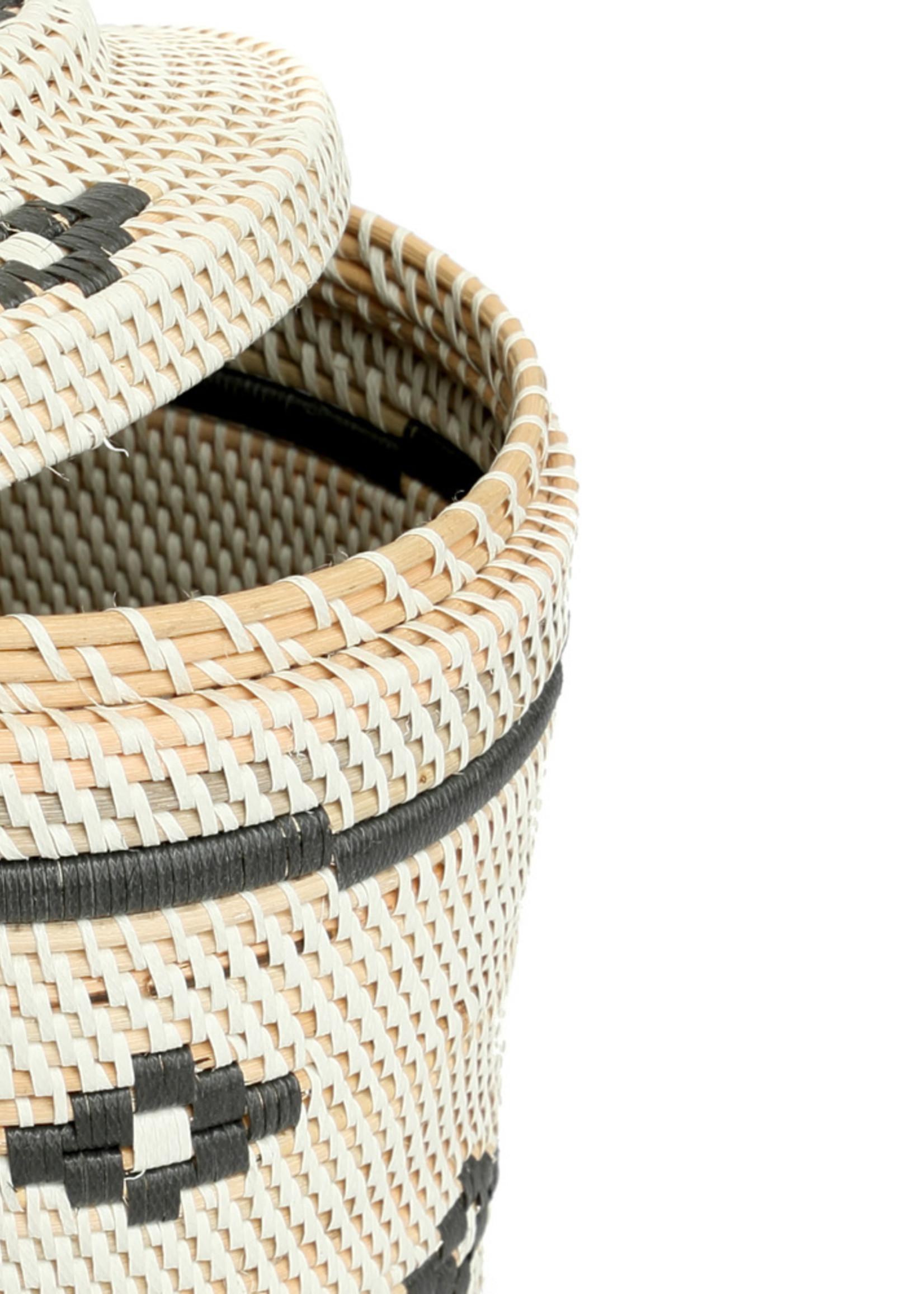 The Crispy Rice Basket - White Black - L